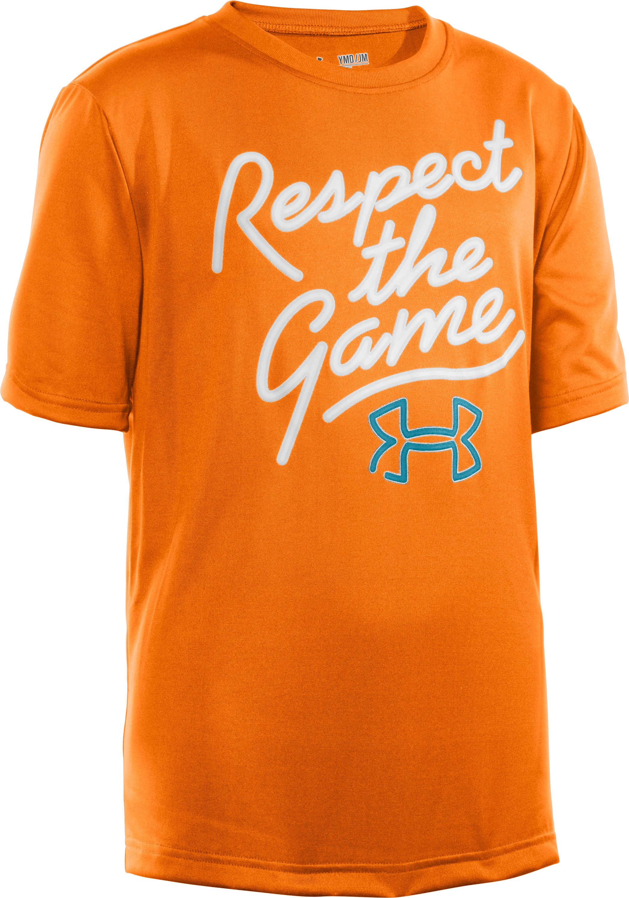 Boys' UA Respect The Game T-Shirt, Blaze Orange, zoomed image