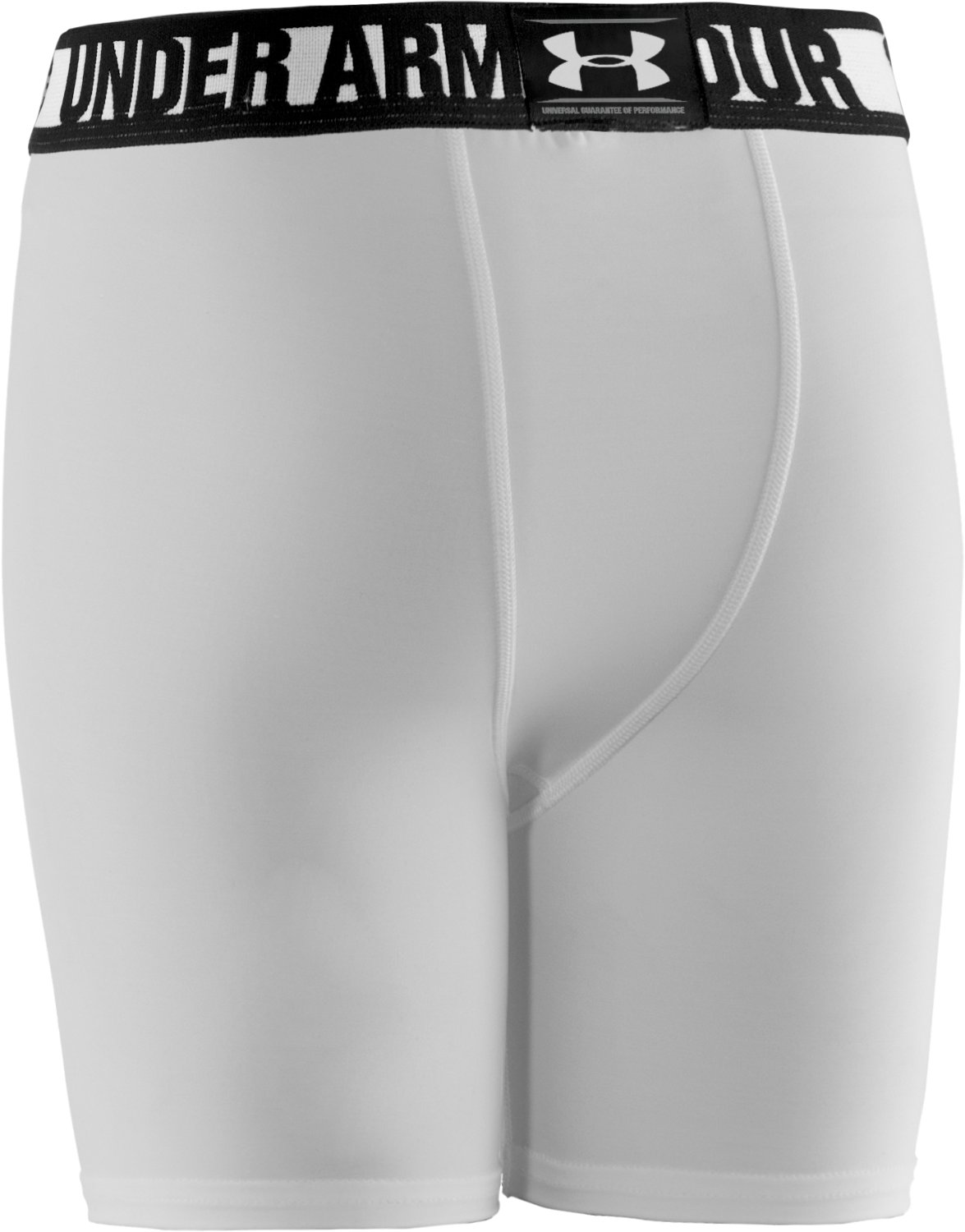 Boys' HeatGear® Sonic Fitted Shorts W/ Cup Combo, White