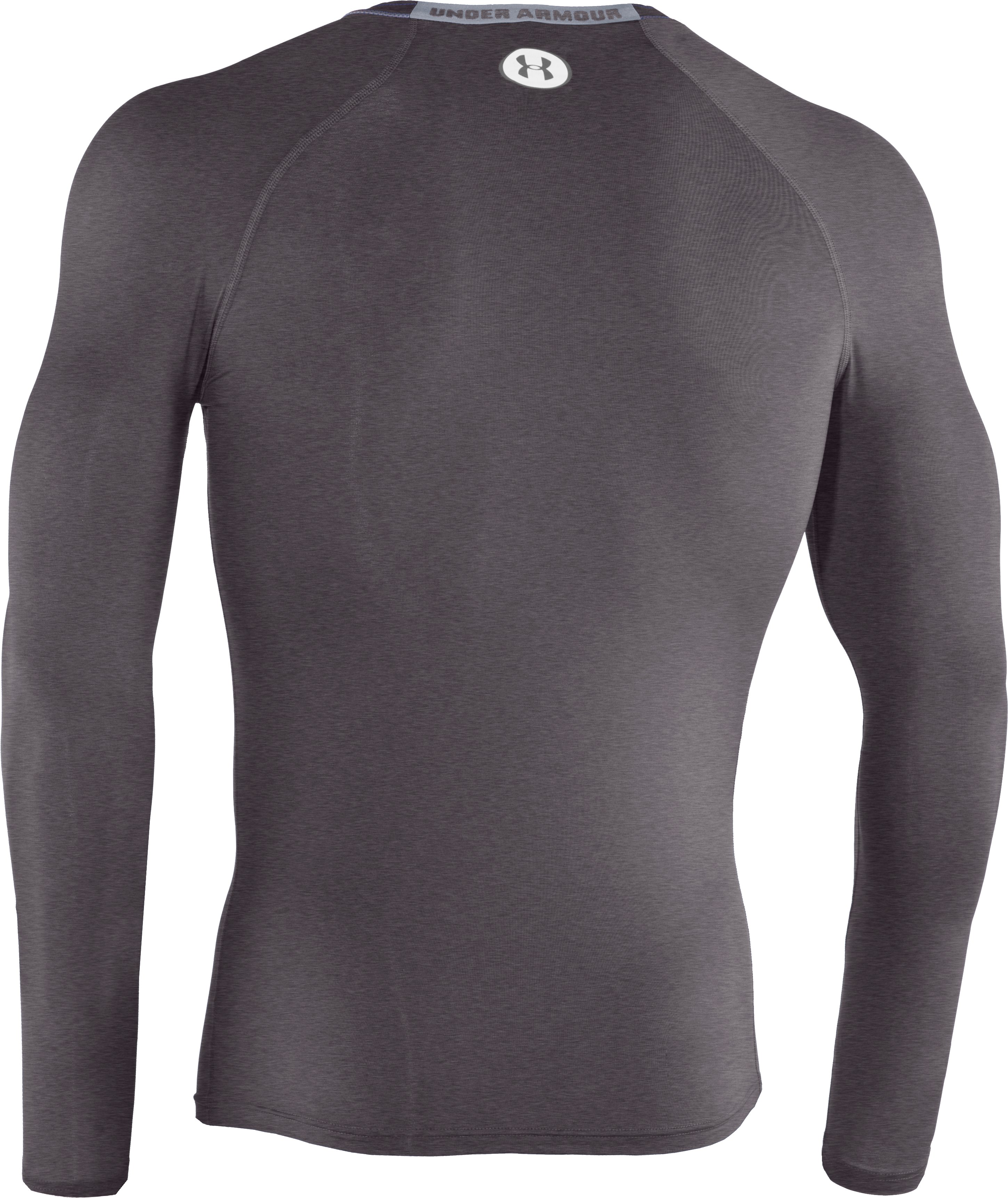 Men's HeatGear® Sonic Compression Long Sleeve, Carbon Heather,