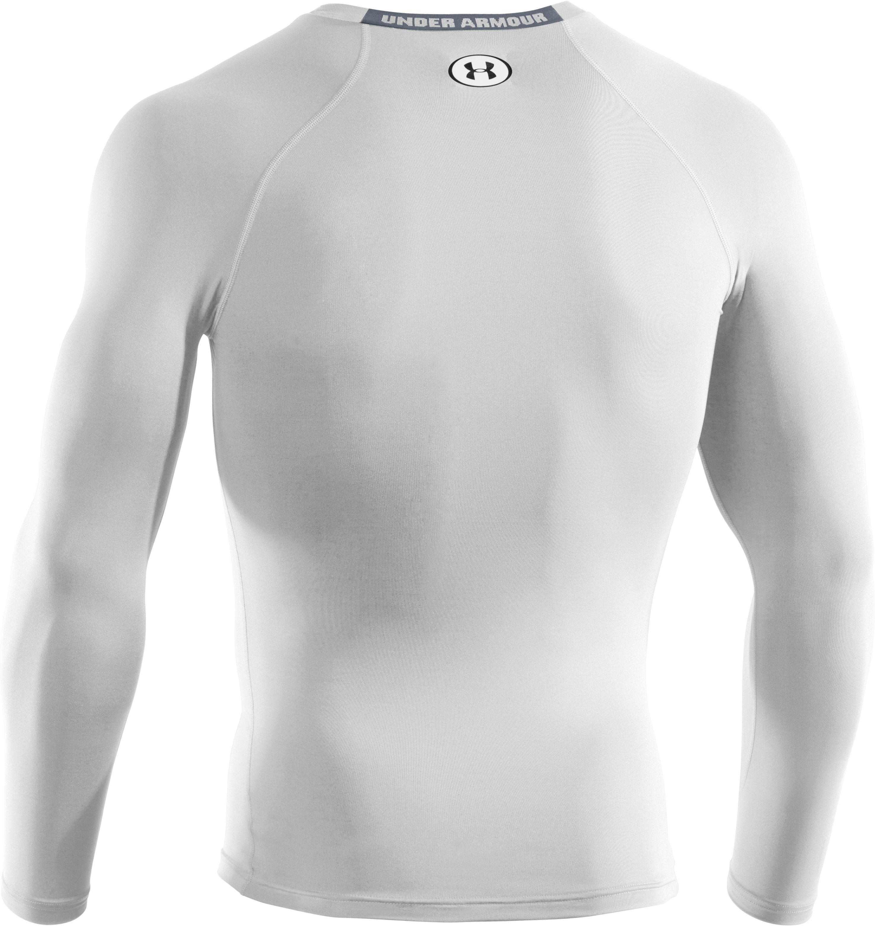 Men's HeatGear® Sonic Compression Long Sleeve, White,