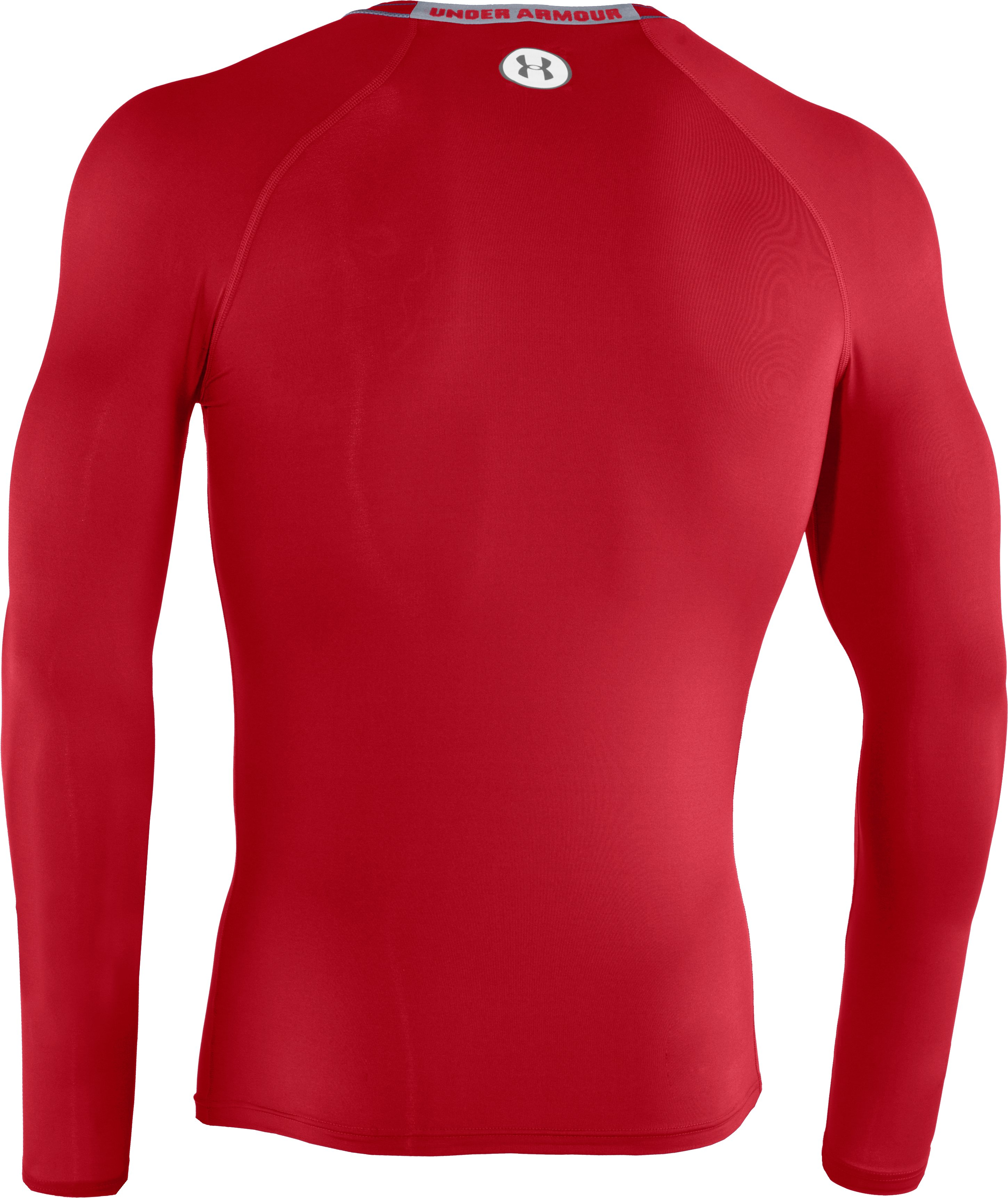 Men's HeatGear® Sonic Compression Long Sleeve, Red,