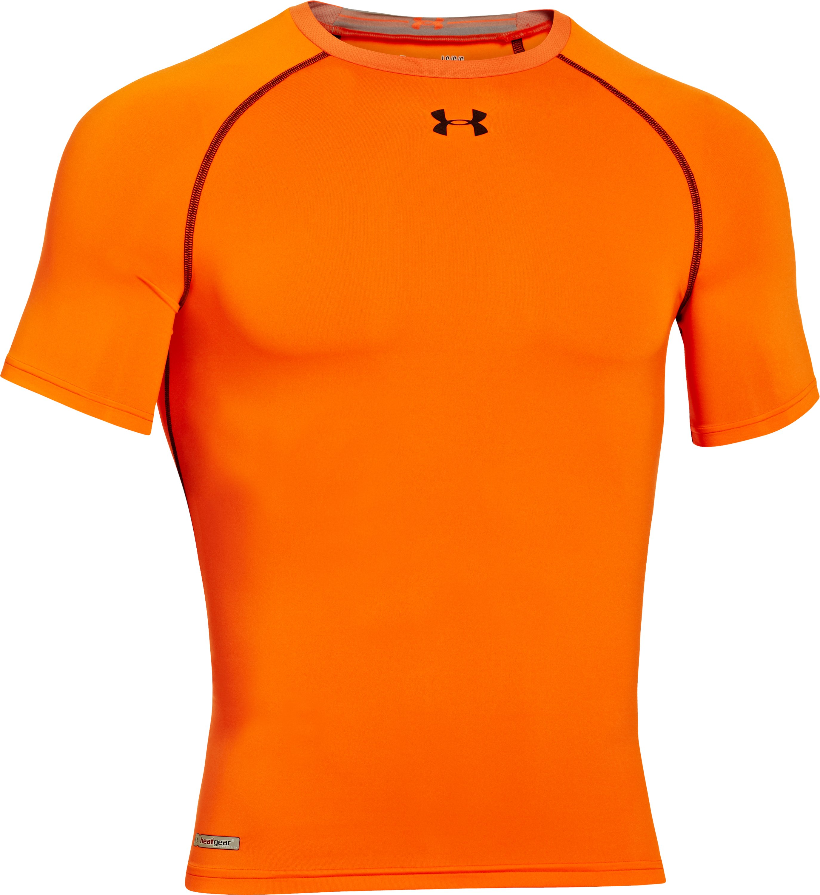 Men's HeatGear® Armour Compression T-Shirt , Blaze Orange