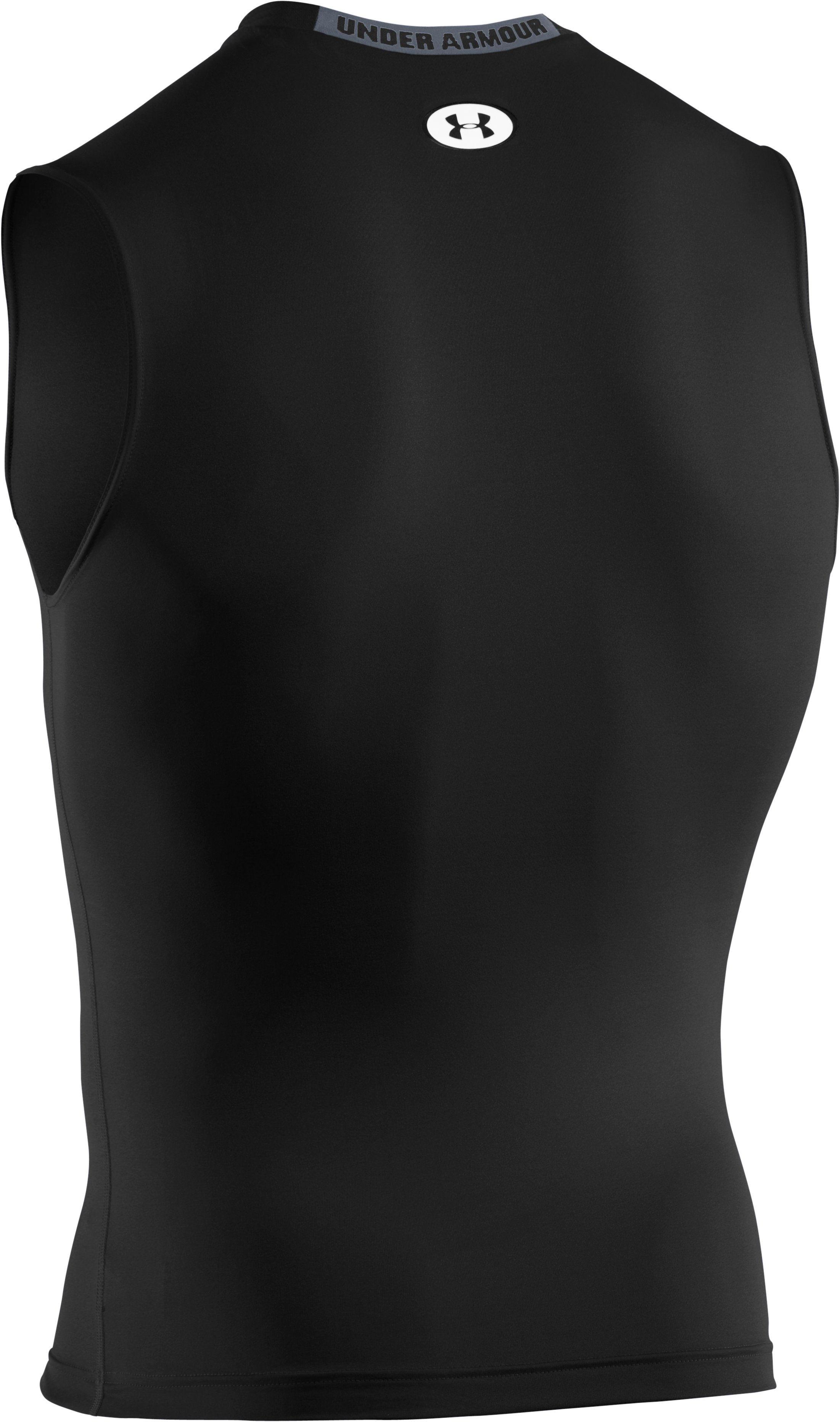 Men's HeatGear® Sonic Compression Sleeveless, Black