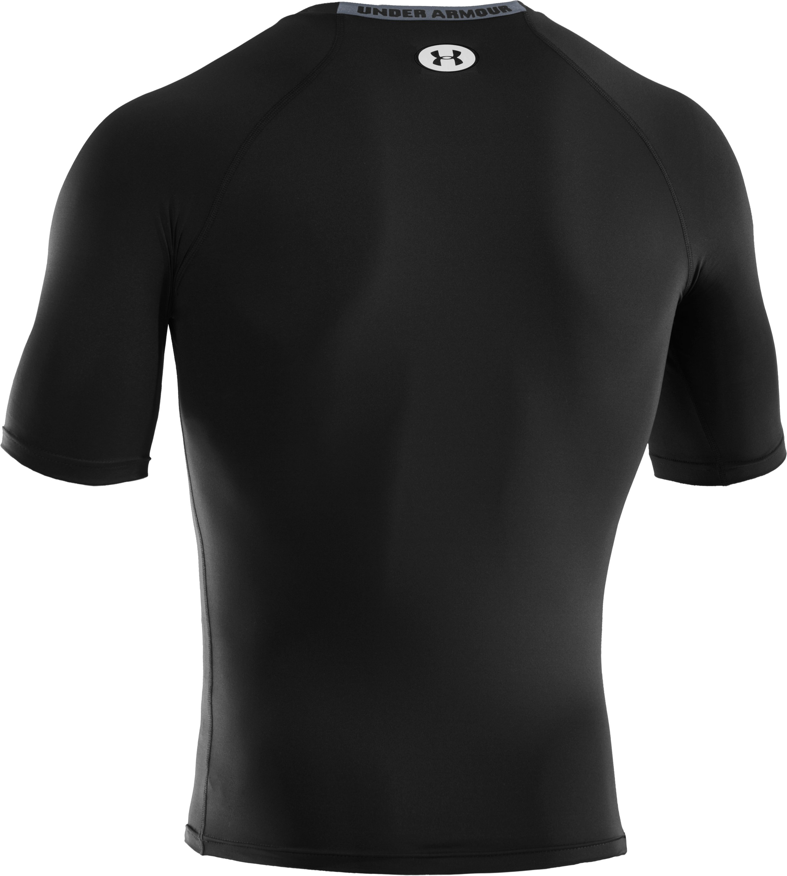 Men's HeatGear® Sonic Compression Half Sleeve, Black