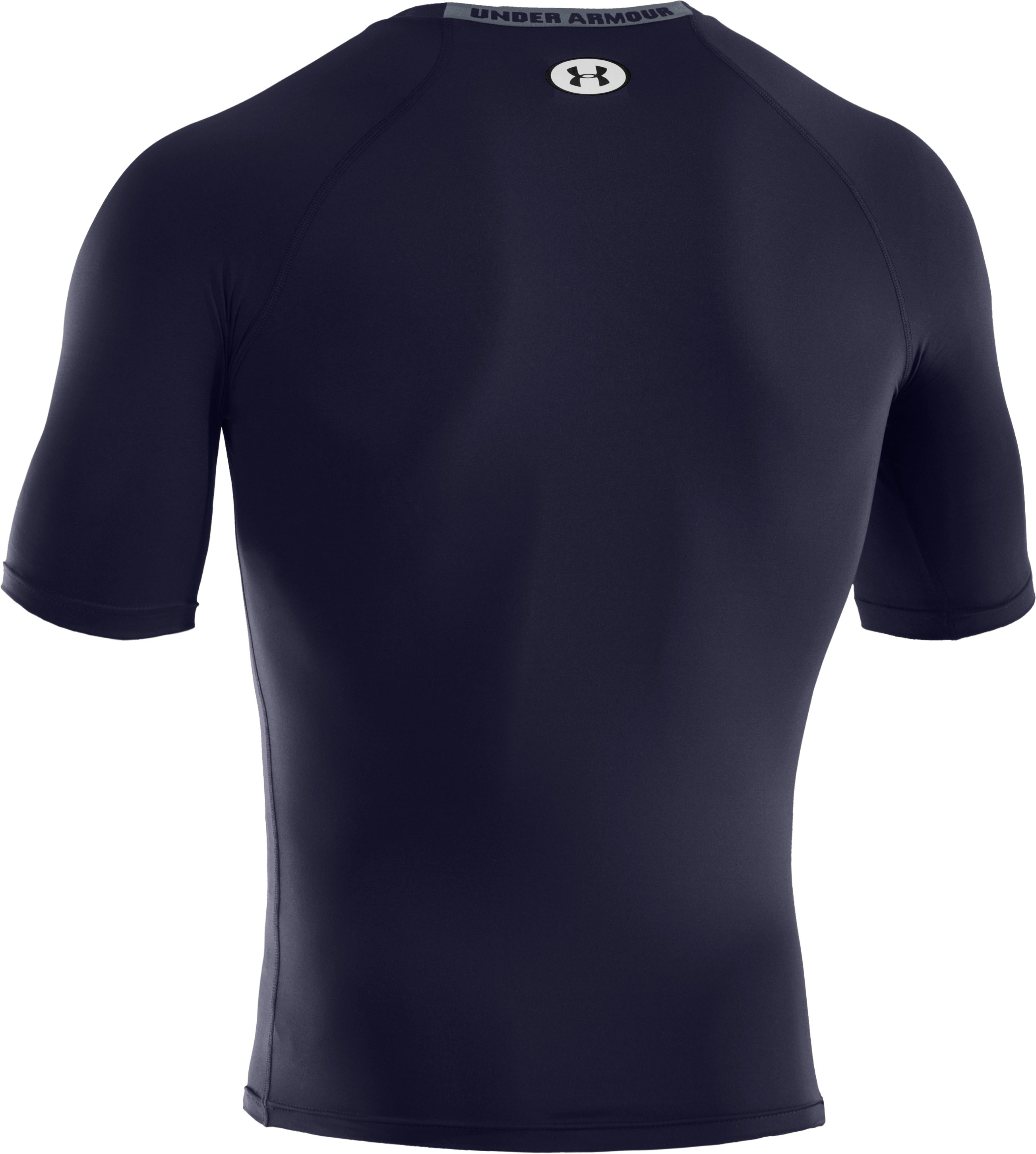 Men's HeatGear® Sonic Compression Half Sleeve, Midnight Navy, undefined