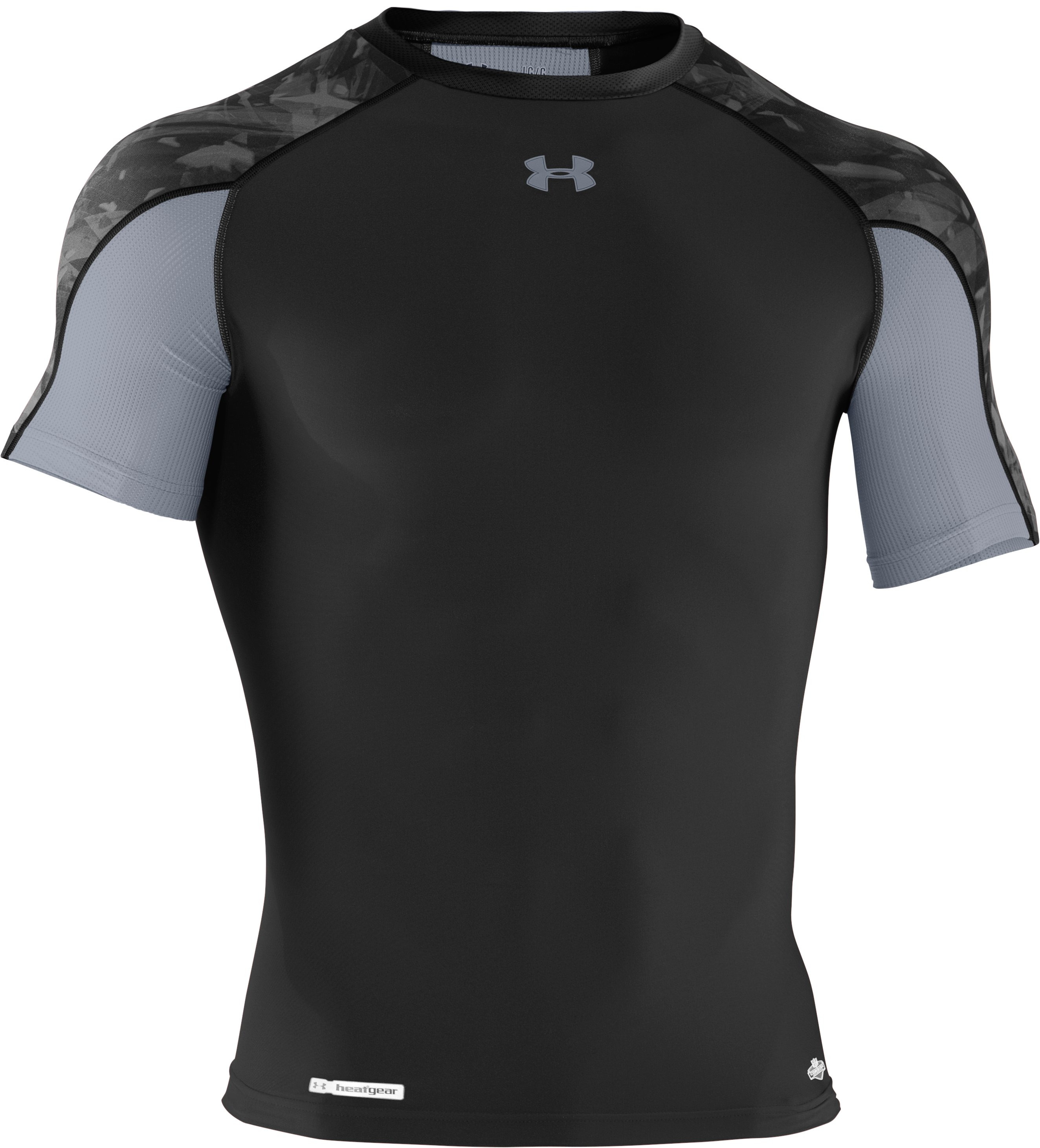 Men's NFL Combine Authentic Compression Short Sleeve, Black , undefined