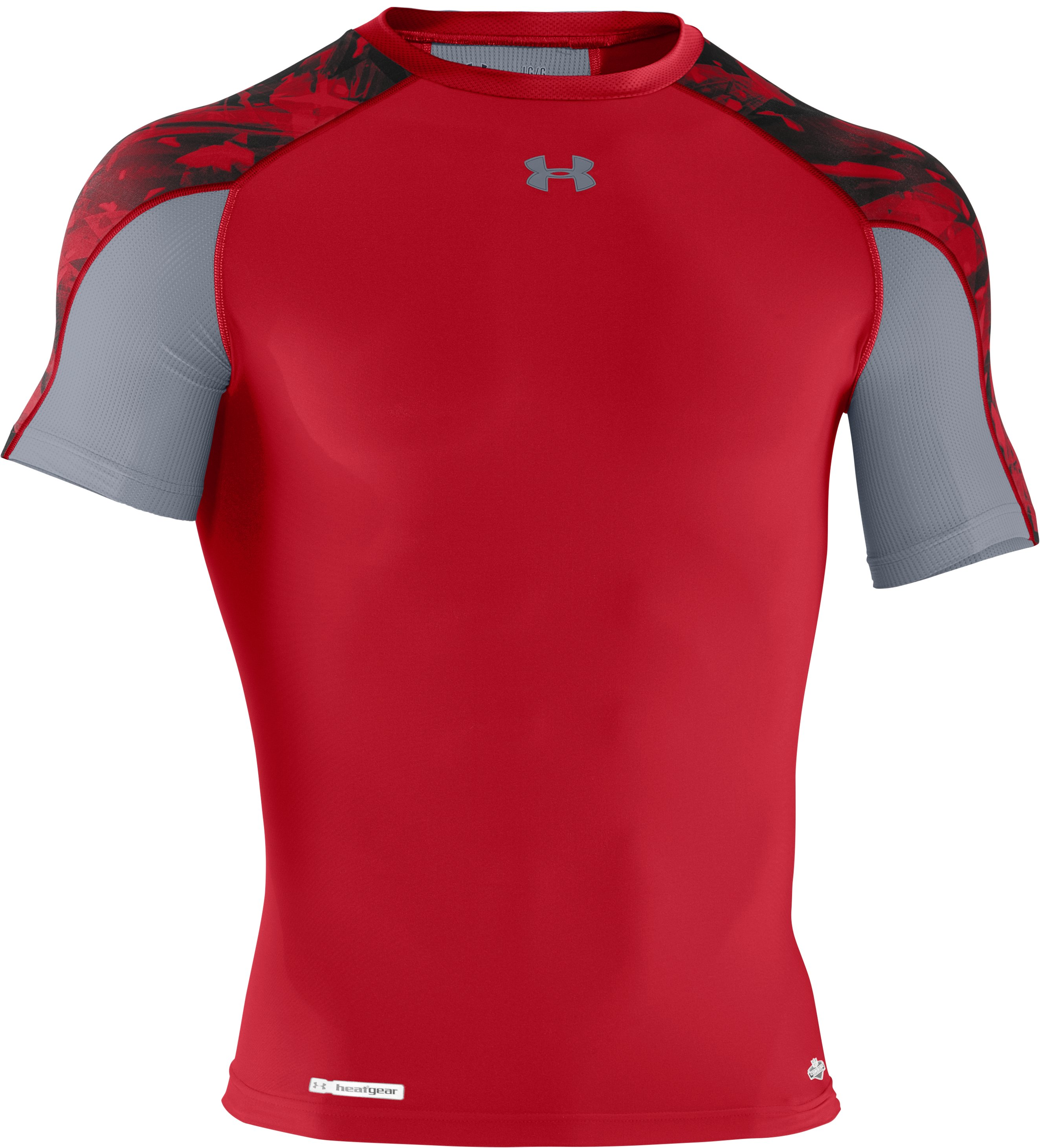 Men's NFL Combine Authentic Compression Short Sleeve, Red, undefined