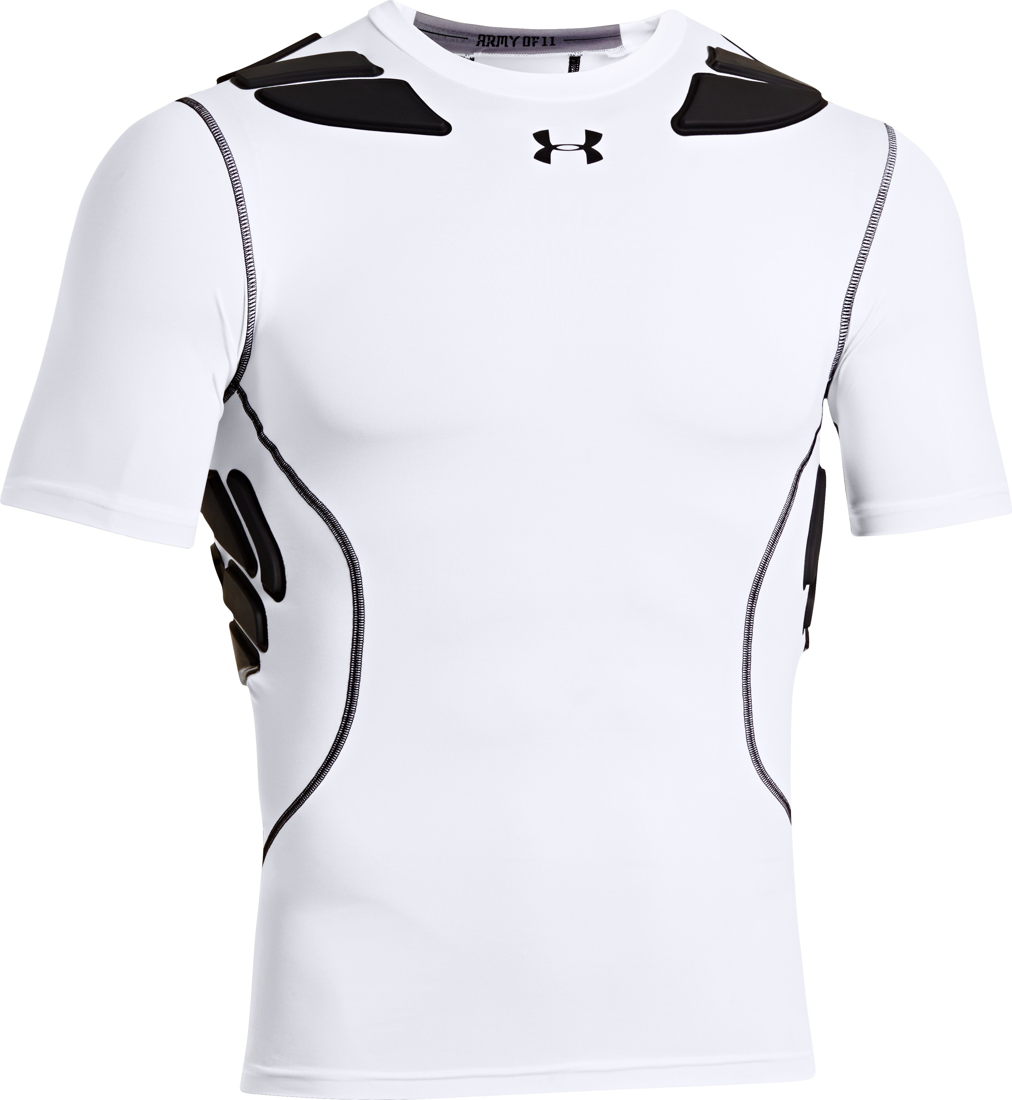 Men's Gameday Armour® Short Sleeve Baselayer, White, undefined
