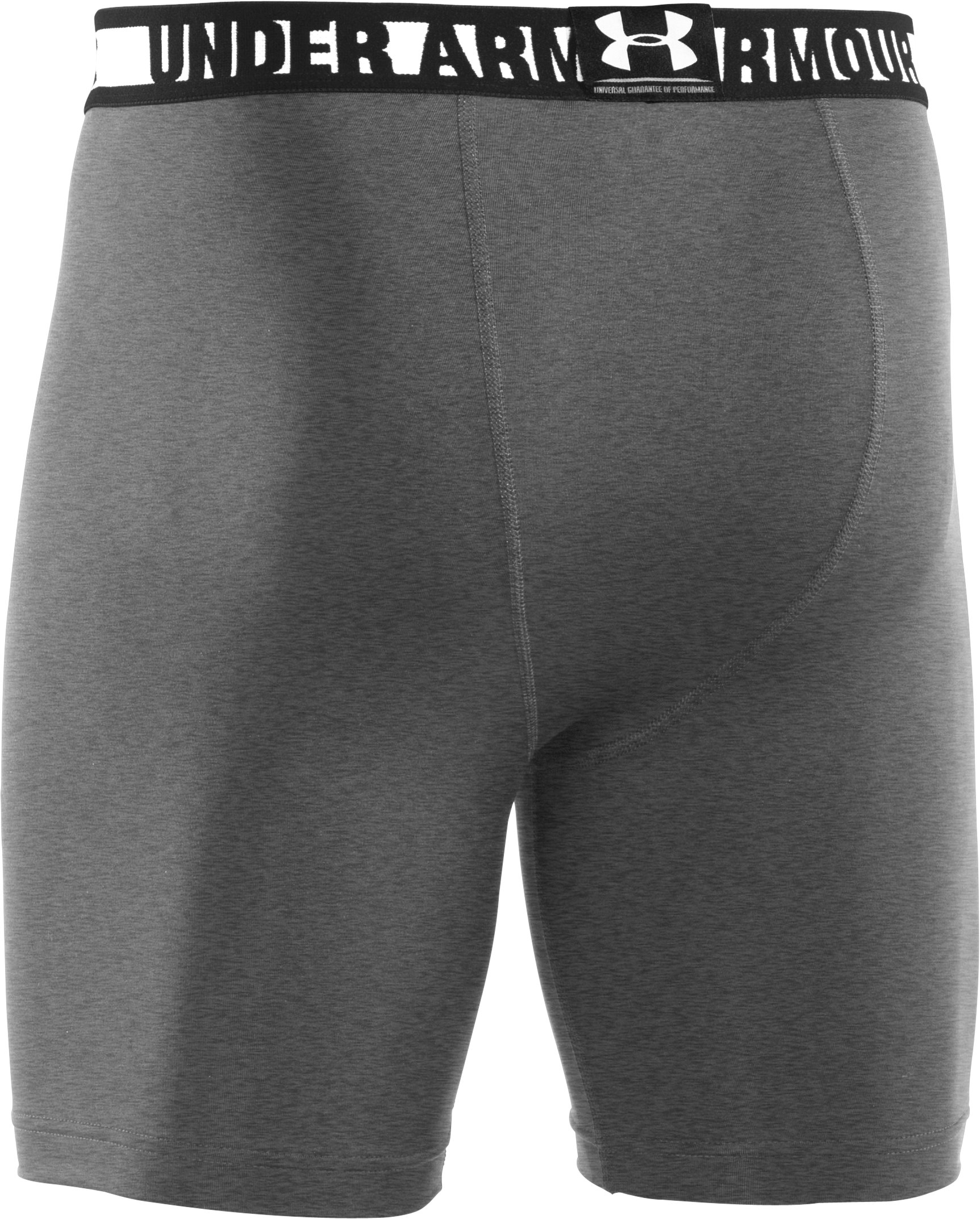 Men's HeatGear® Sonic Compression Shorts, True Gray Heather