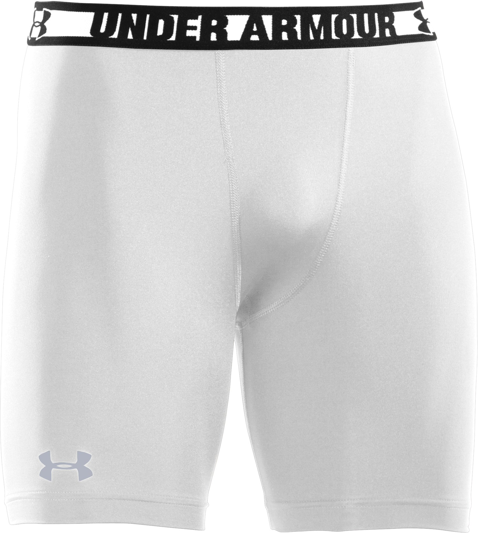 Men's HeatGear® Sonic Compression Shorts, White