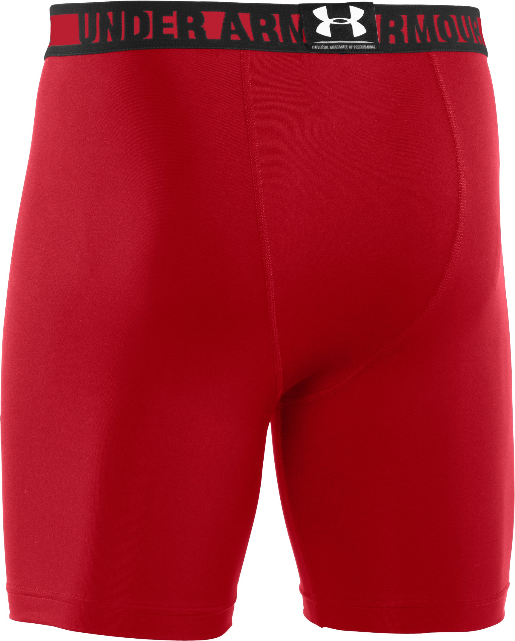 Men's HeatGear® Sonic Compression Shorts, Red, undefined