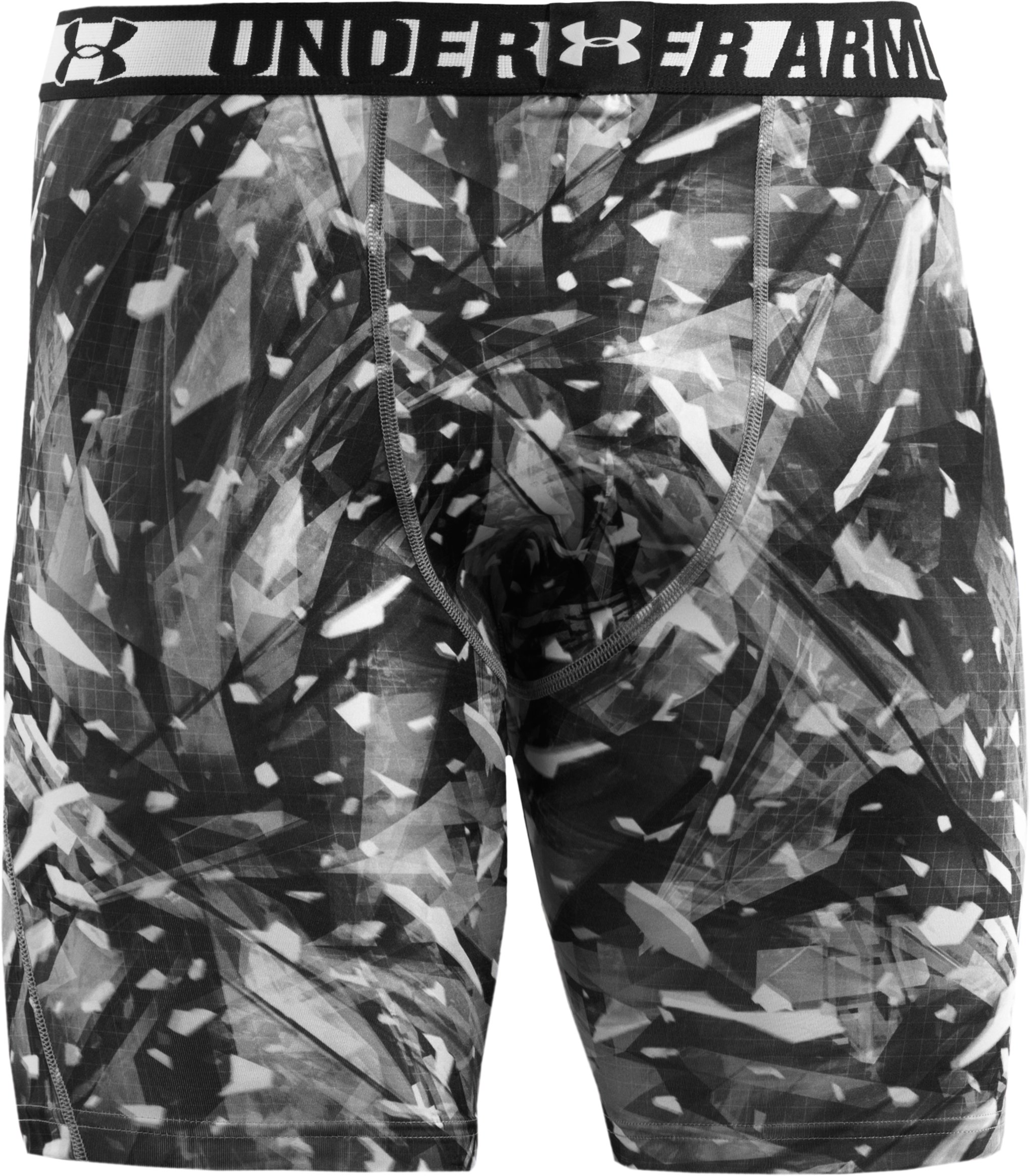 Men's HeatGear® Sonic Printed Compression Shorts, Black