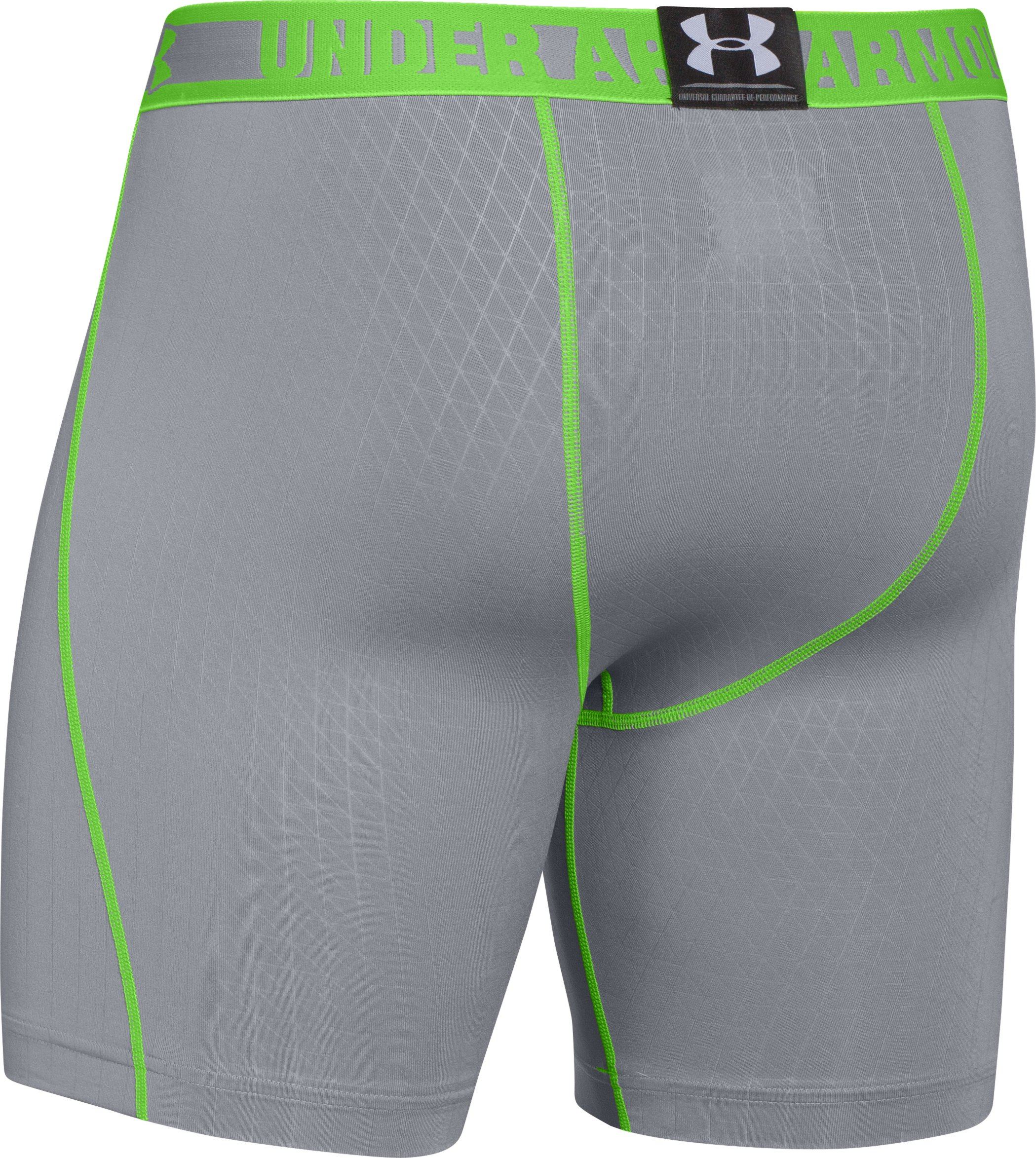 Men's HeatGear® Sonic Printed Compression Shorts, Steel, undefined
