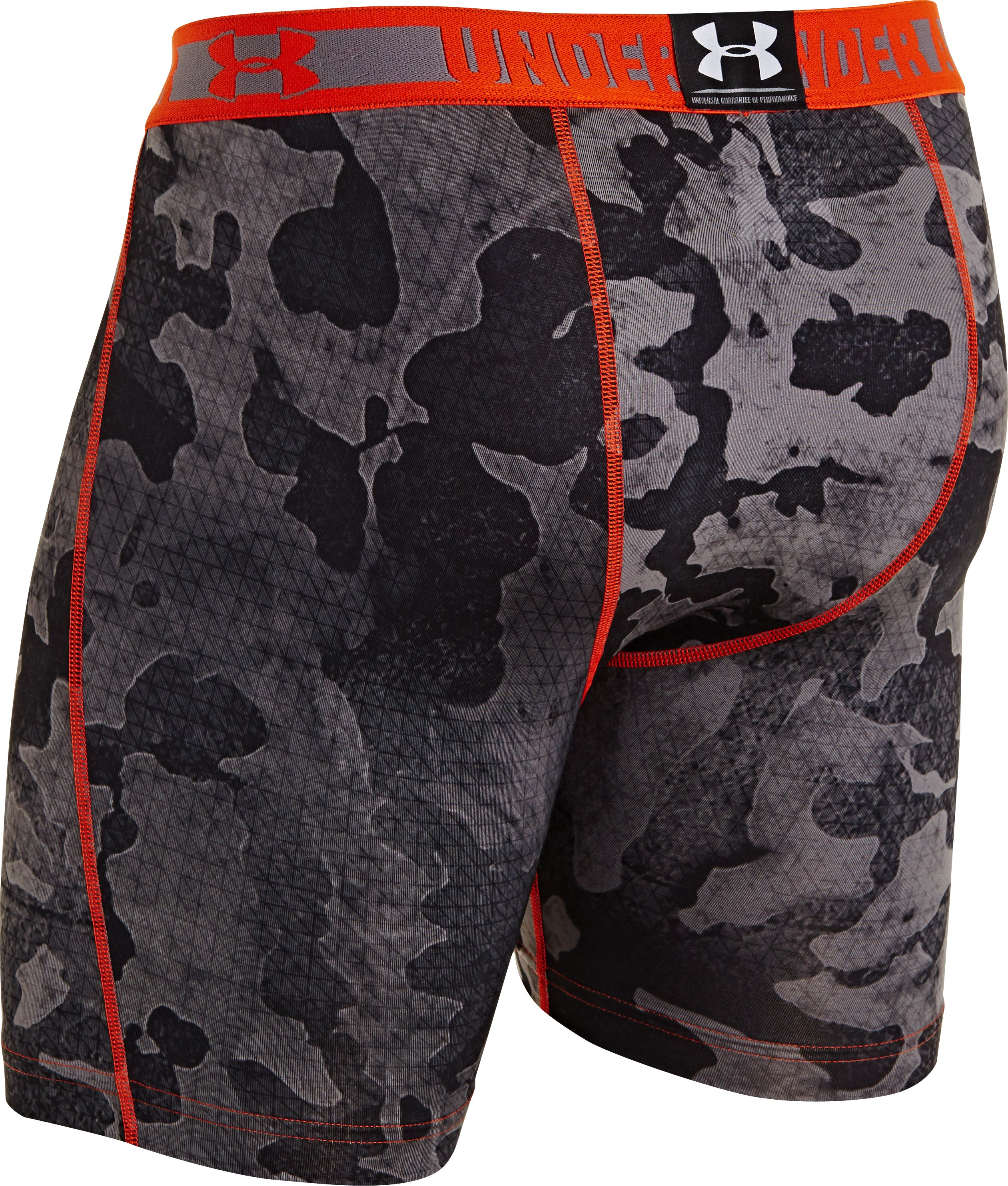Men's HeatGear® Sonic Printed Compression Shorts, Graphite, undefined