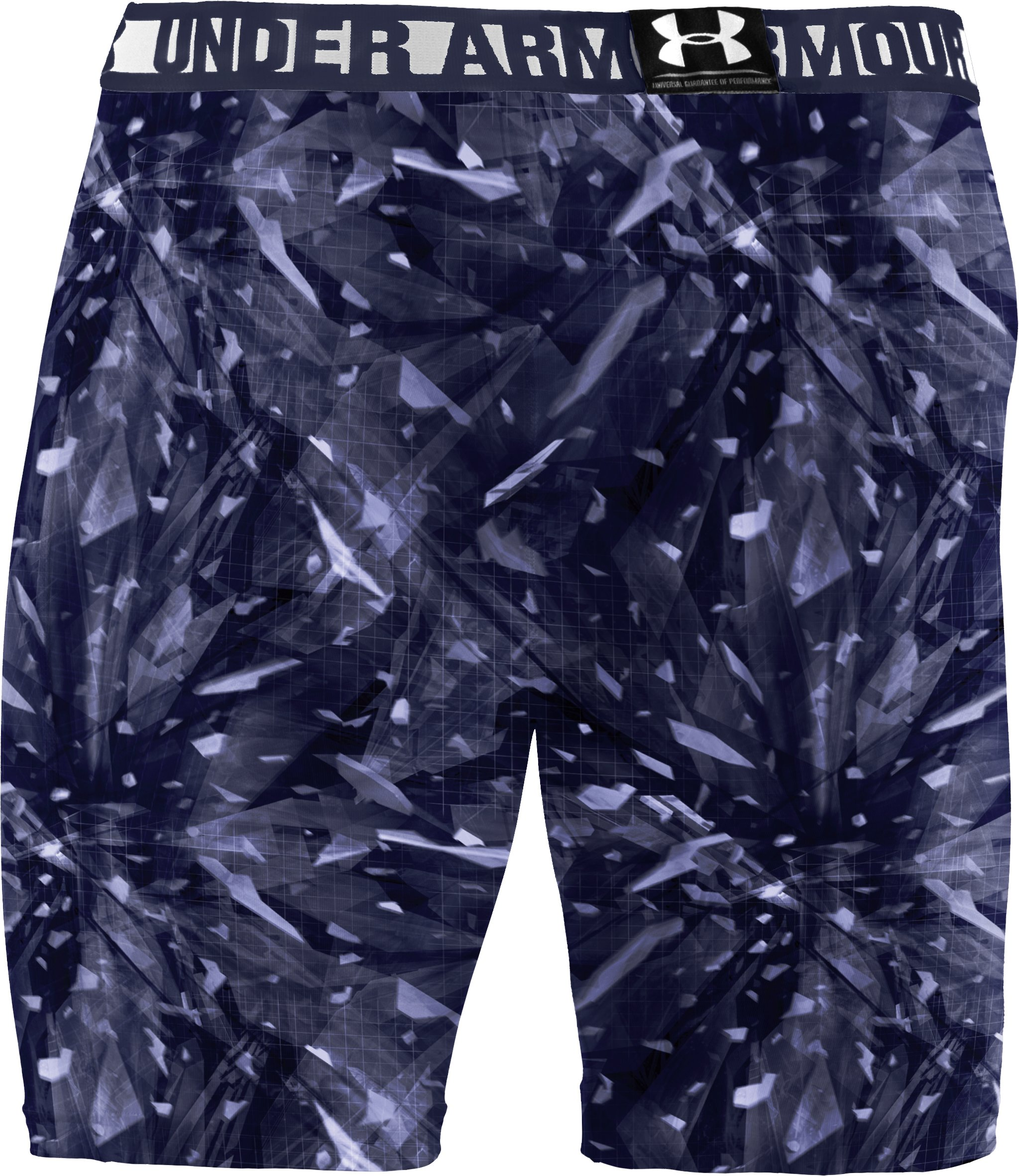 Men's HeatGear® Sonic Printed Compression Shorts, Midnight Navy, undefined