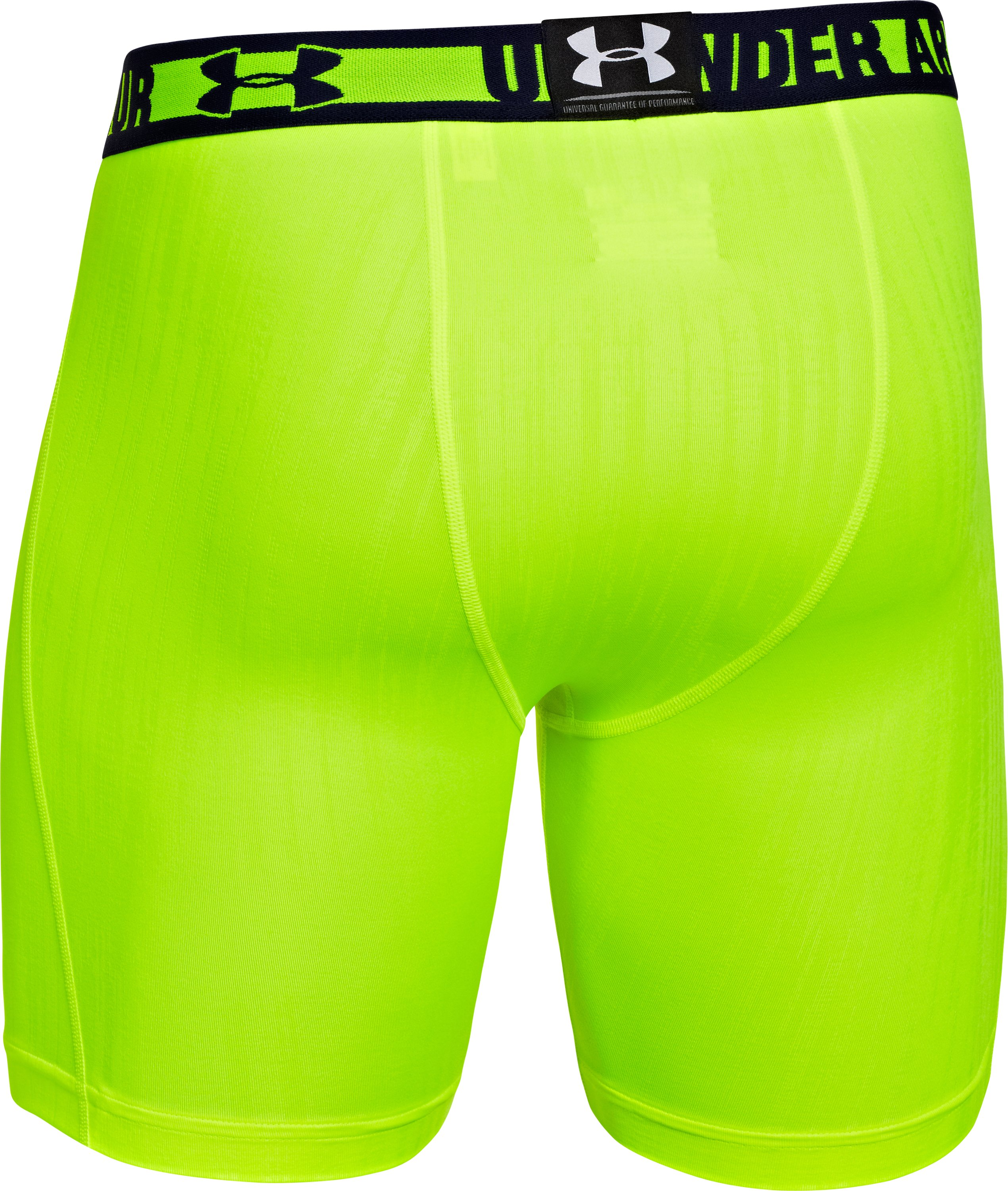 Men's HeatGear® Sonic Printed Compression Shorts, High-Vis Yellow