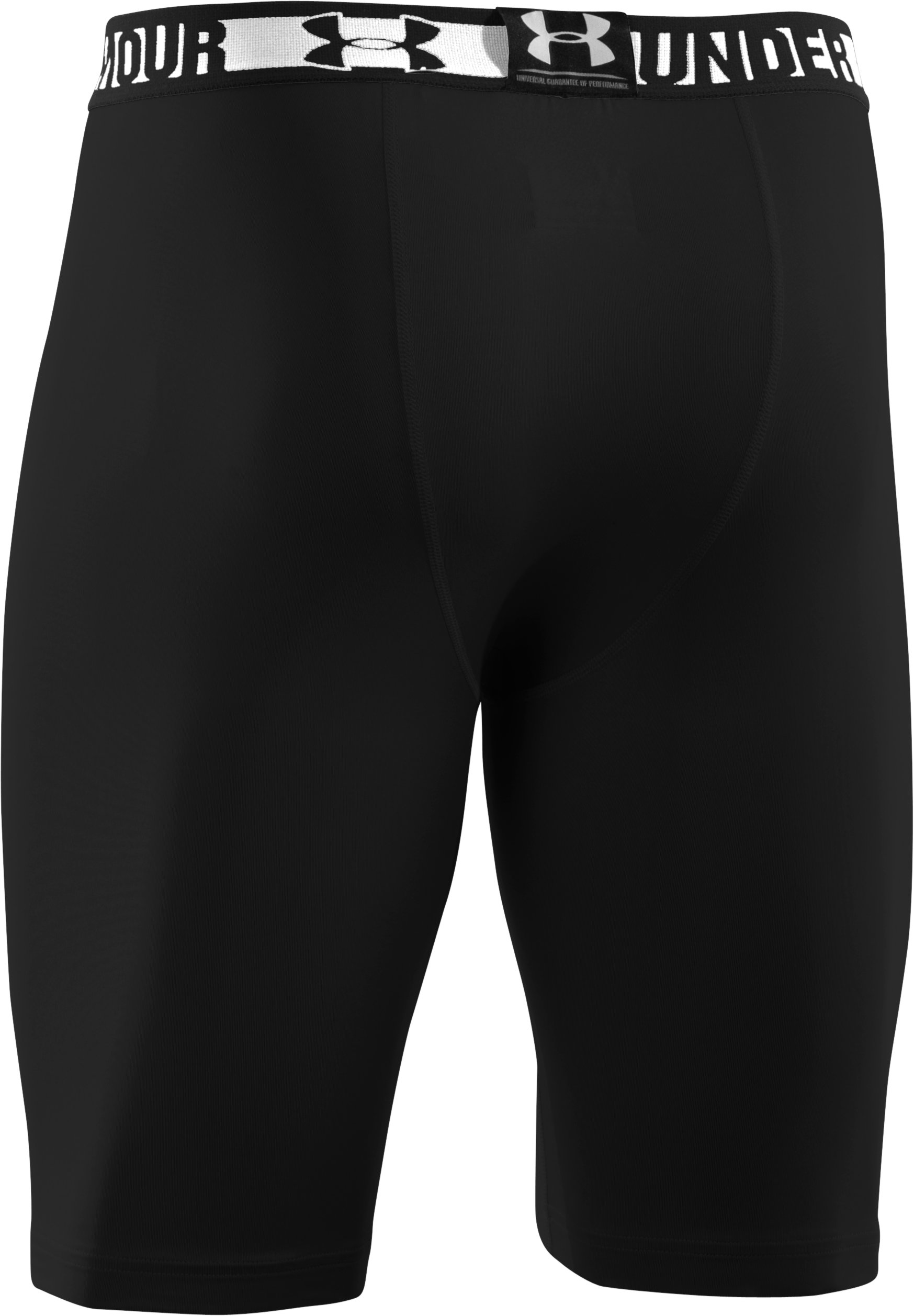Men's HeatGear® Sonic Long Compression Shorts, Black