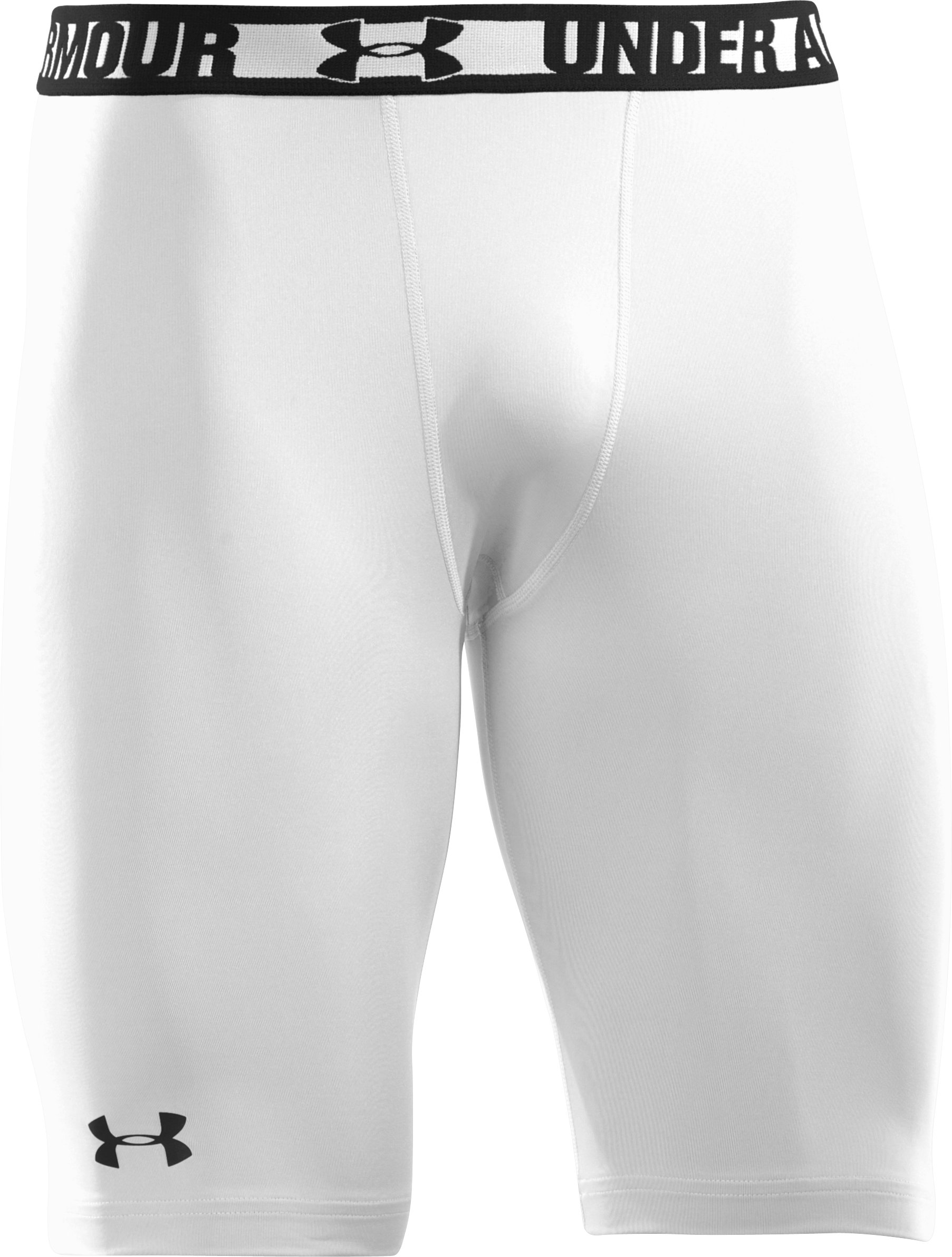 Men's HeatGear® Sonic Long Compression Shorts, White