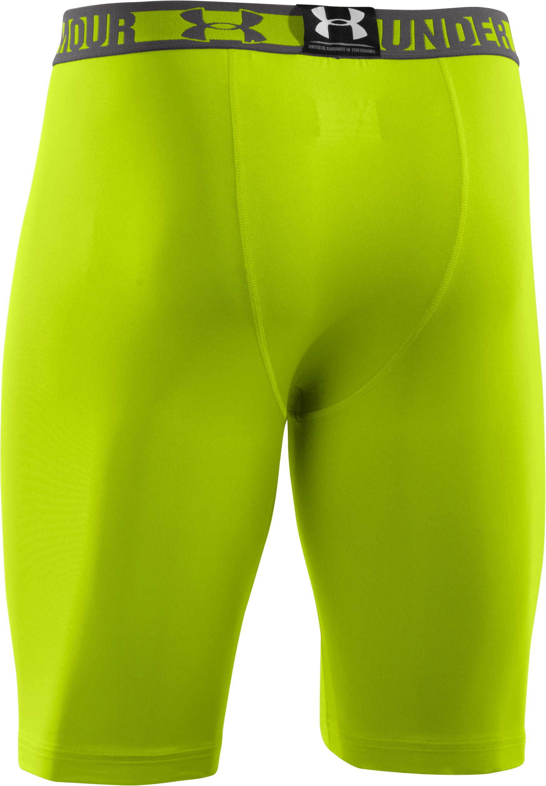 Men's HeatGear® Sonic Long Compression Shorts, Velocity