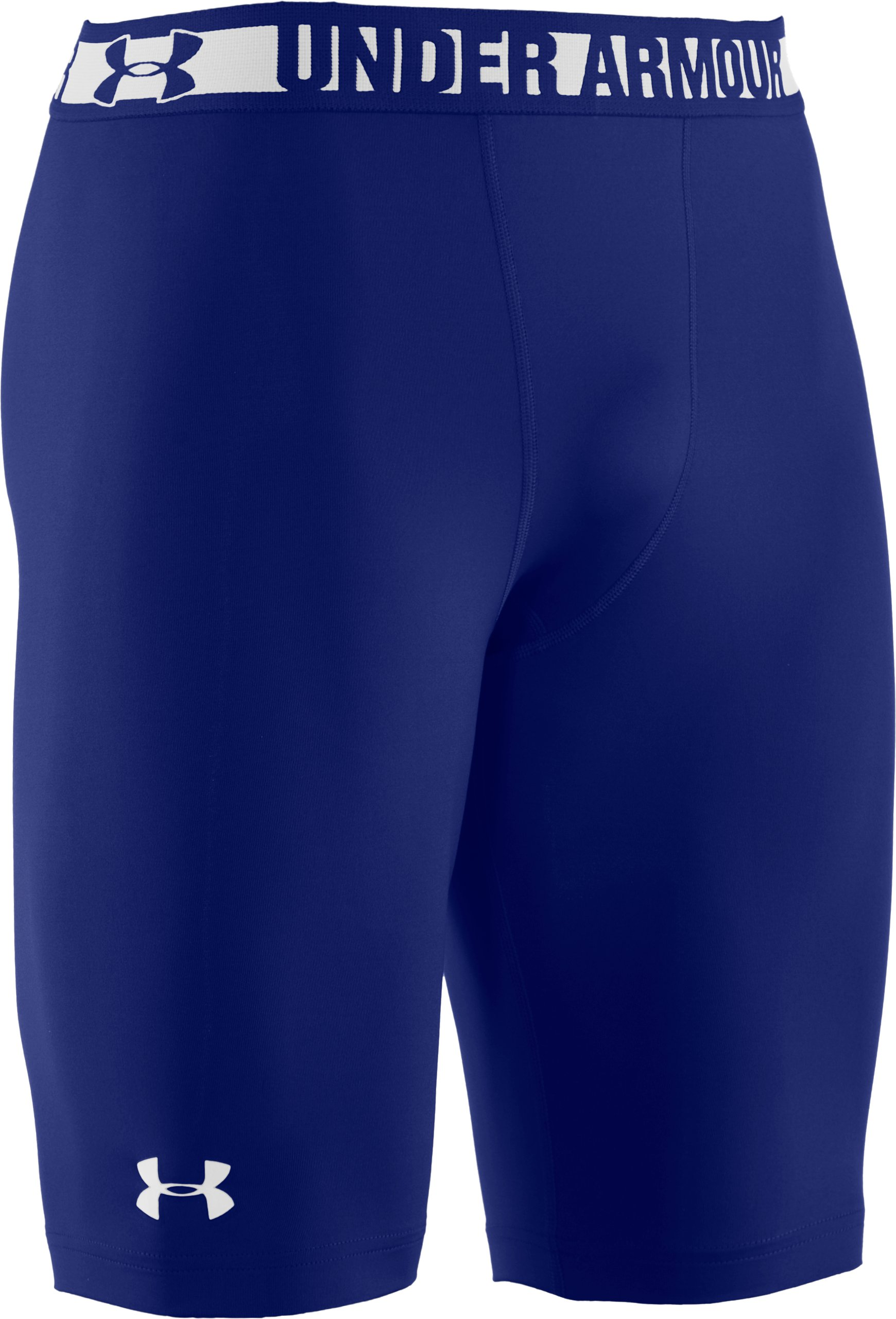 Men's HeatGear® Sonic Long Compression Shorts, Royal, undefined