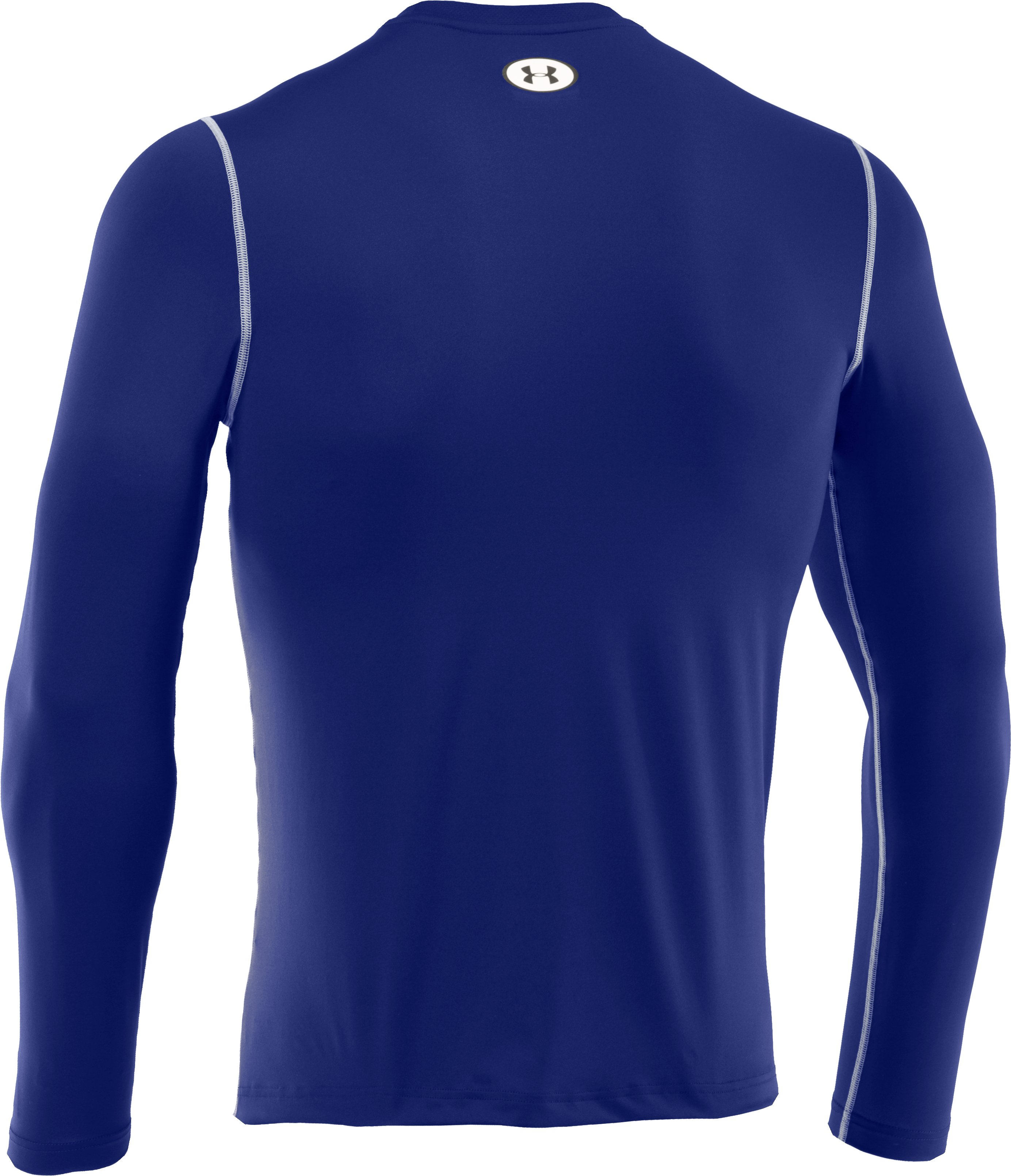 Men's HeatGear® Sonic Fitted Long Sleeve, Royal, undefined