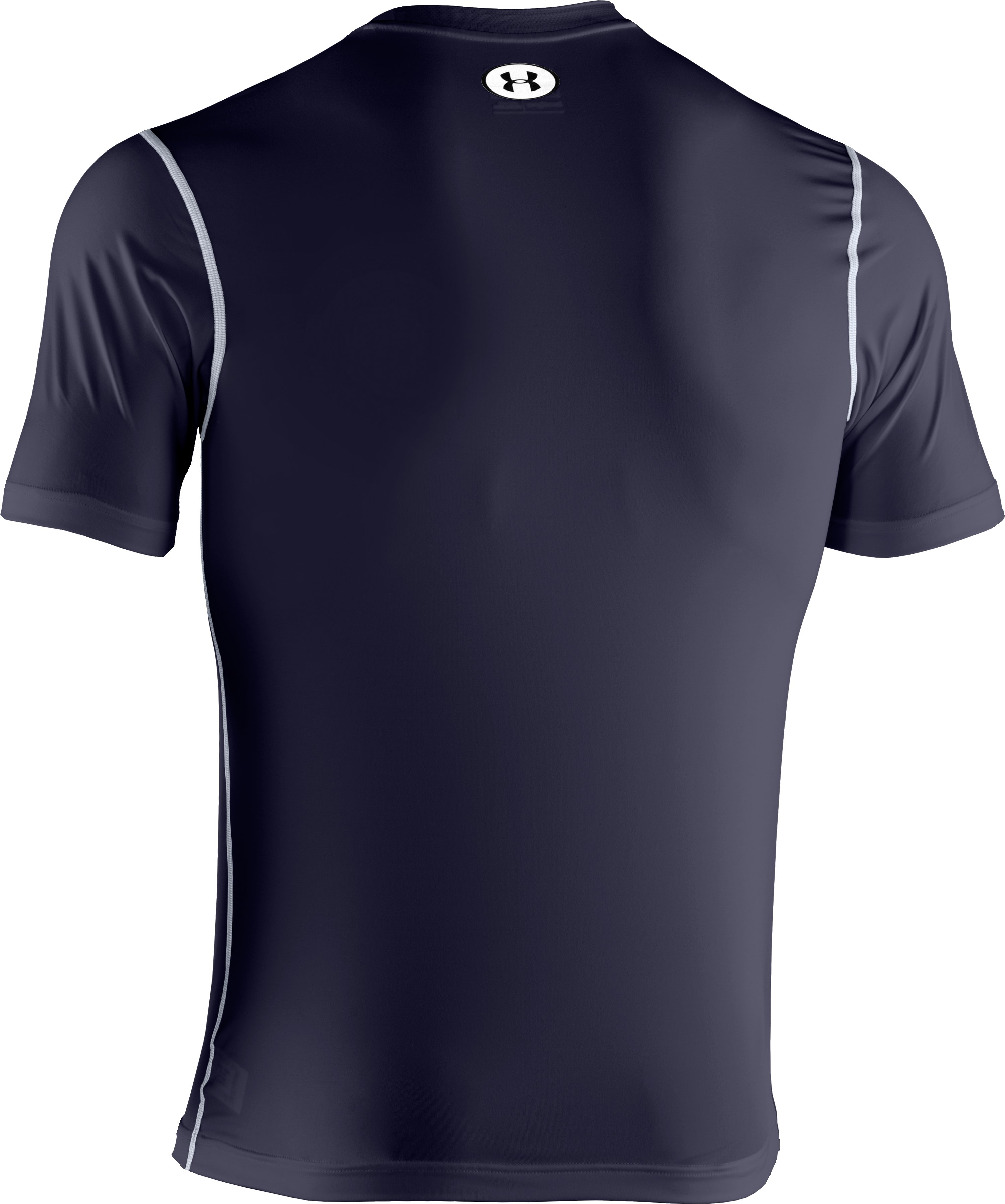 Men's HeatGear® Sonic Fitted Short Sleeve, Midnight Navy