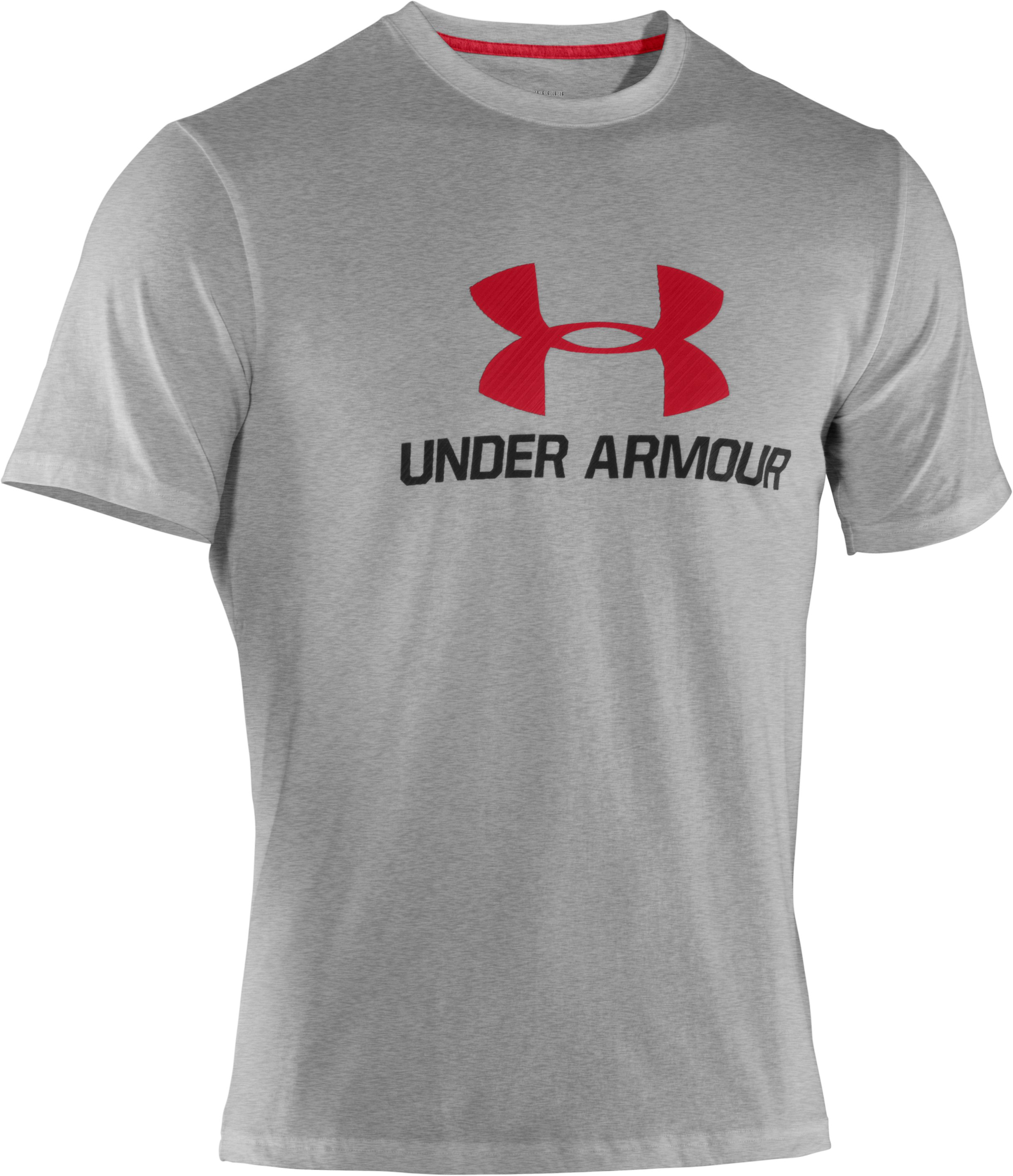Men's UA Sportstyle III Logo T-Shirt, True Gray Heather