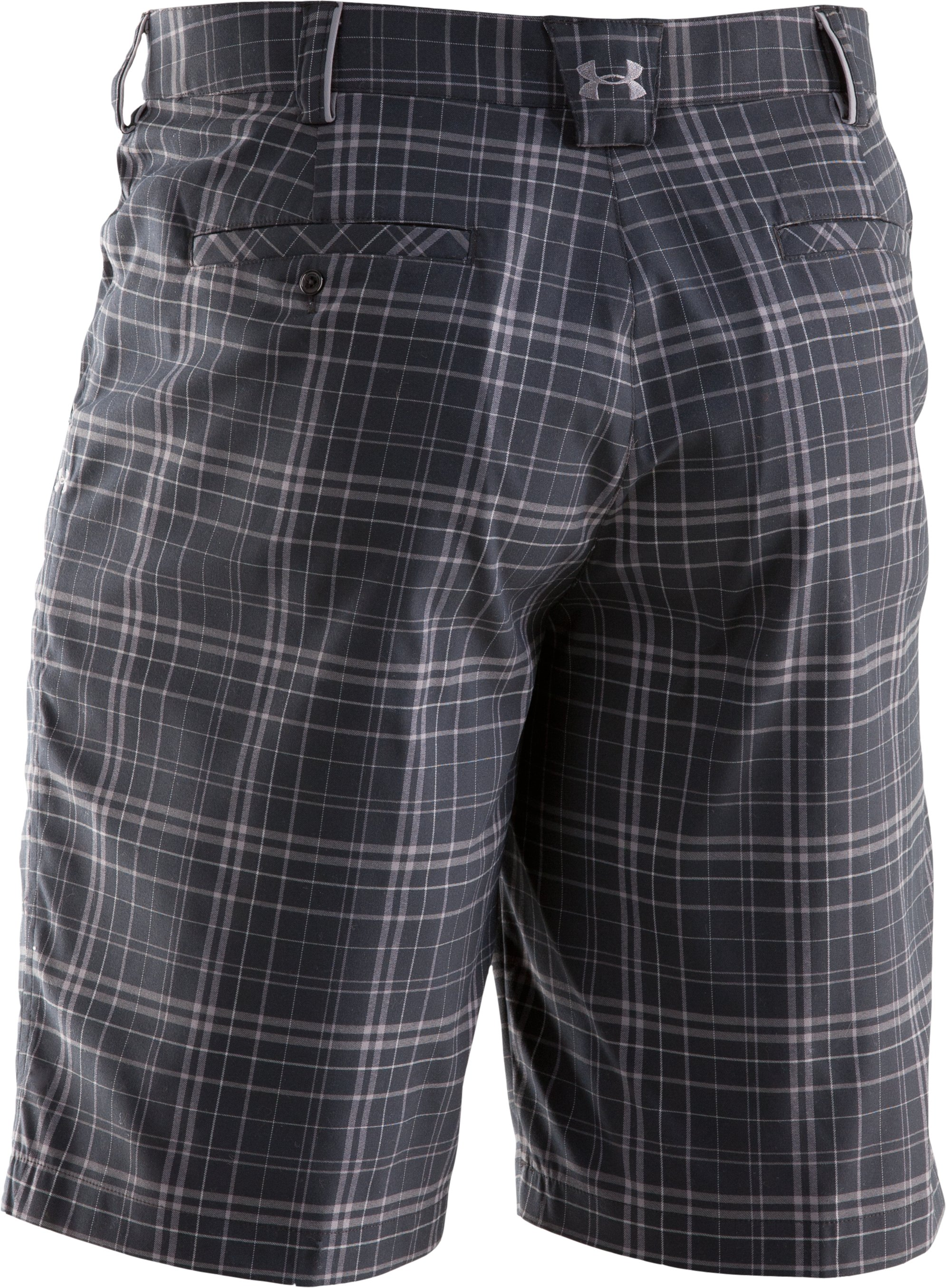 Men's UA Forged Plaid Golf Shorts, Black