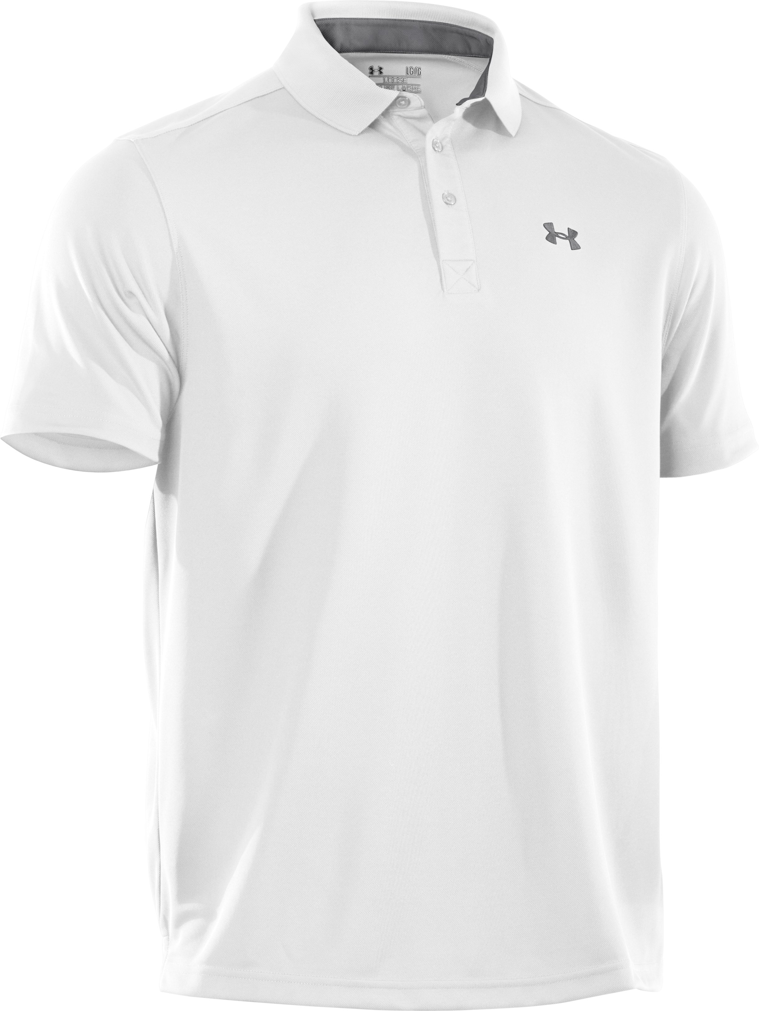 Men's UA Fade Solid Pique Polo 3.0, White,
