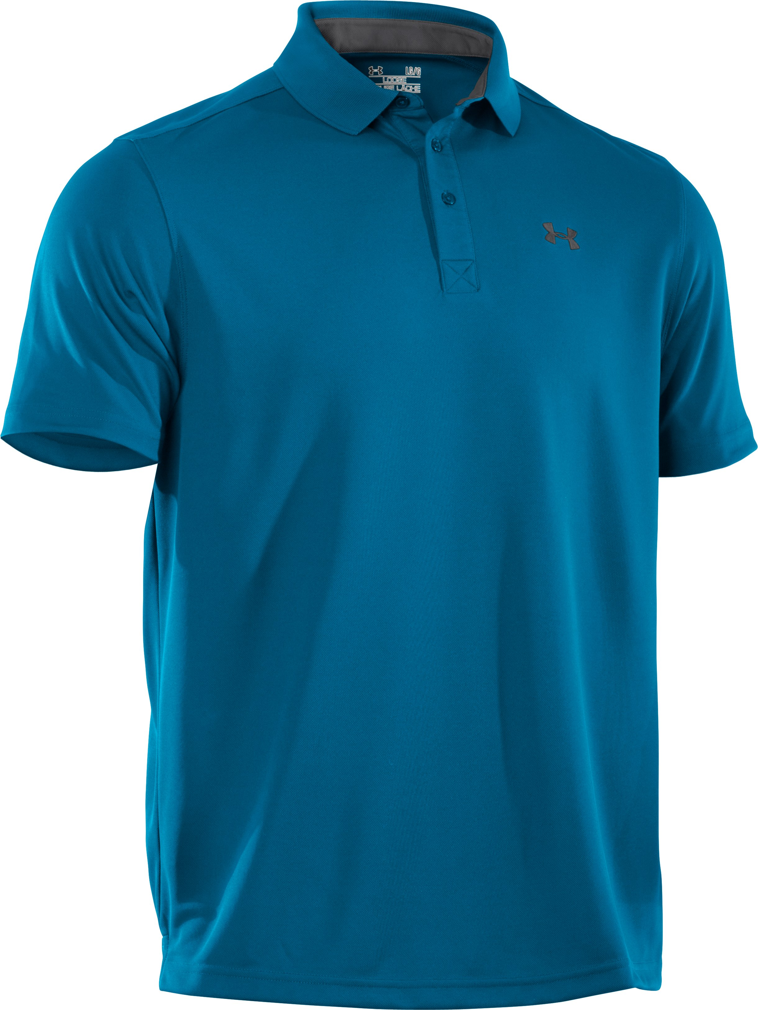 Men's UA Fade Solid Pique Polo 3.0, SNORKEL