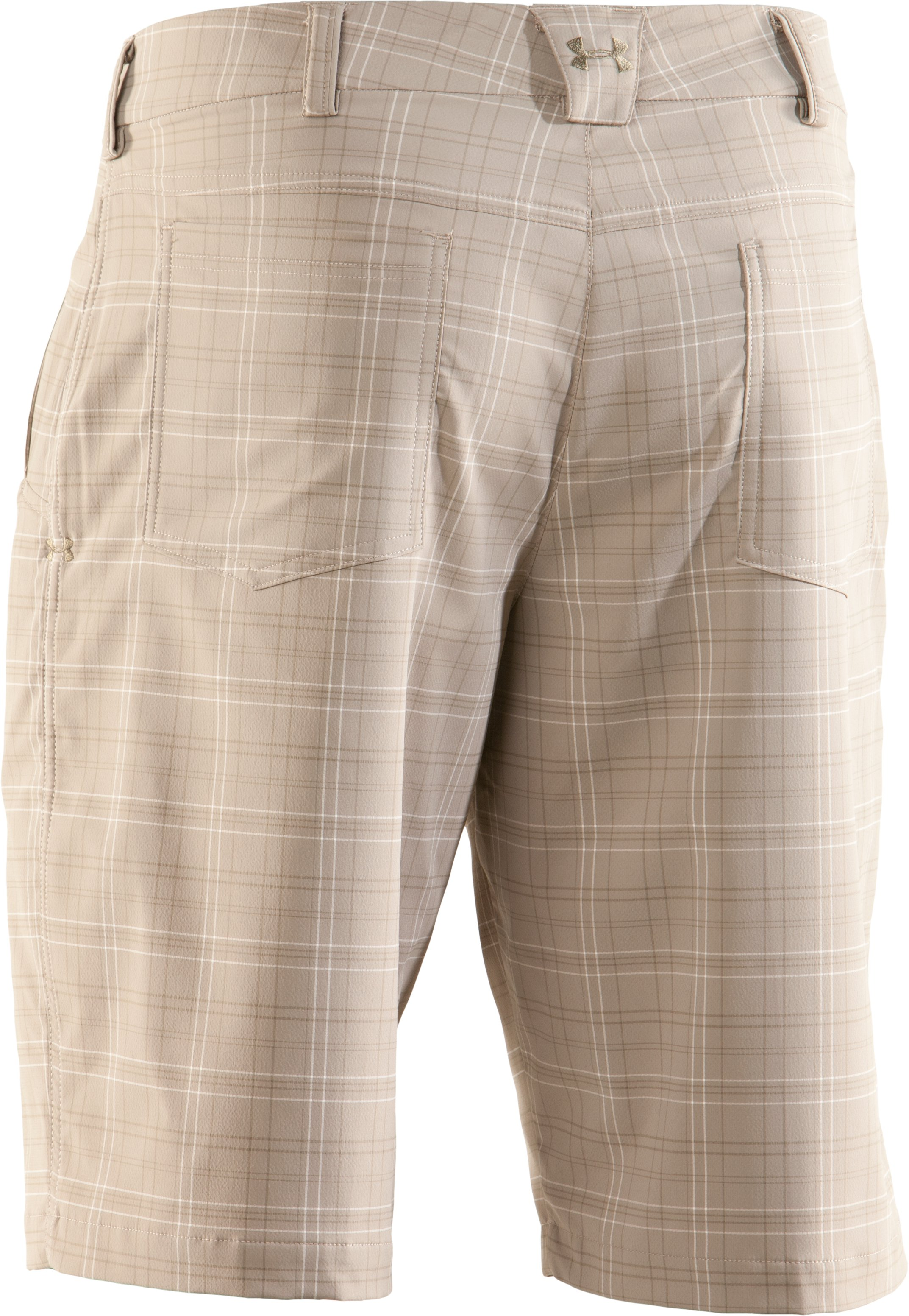 Men's UA Performance Plaid Shorts, Canvas, undefined