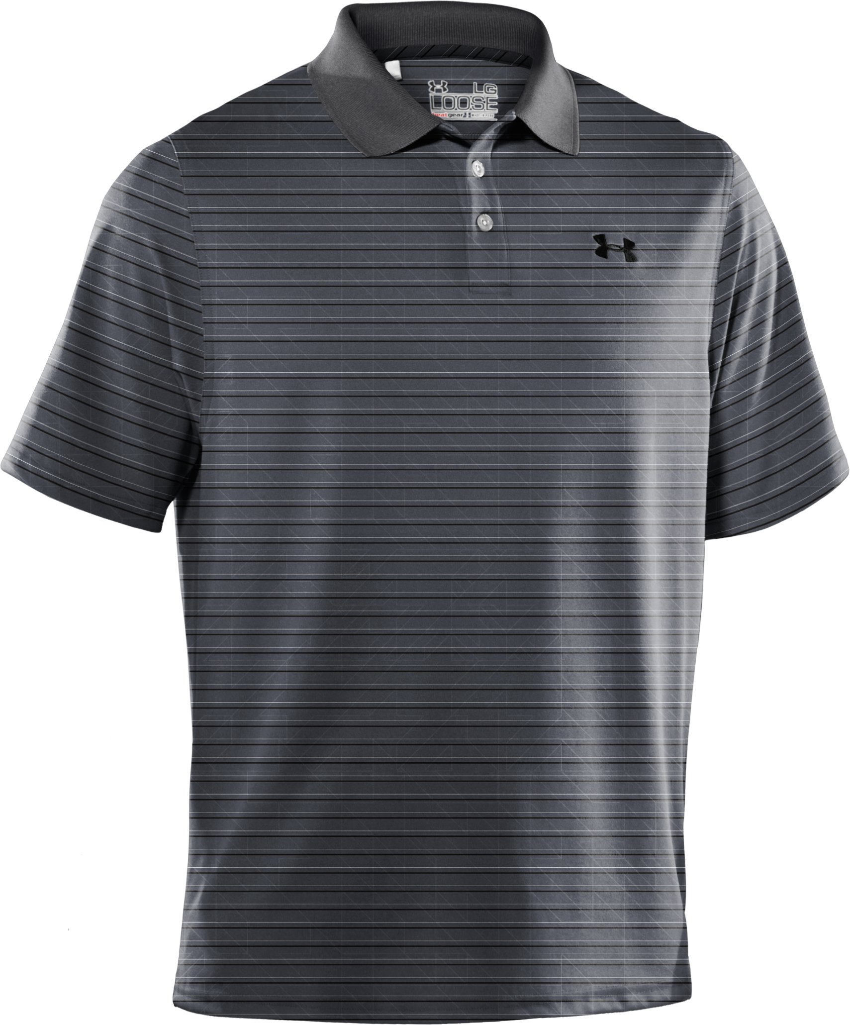 Men's UA Performance Embossed Stripe Polo, Graphite