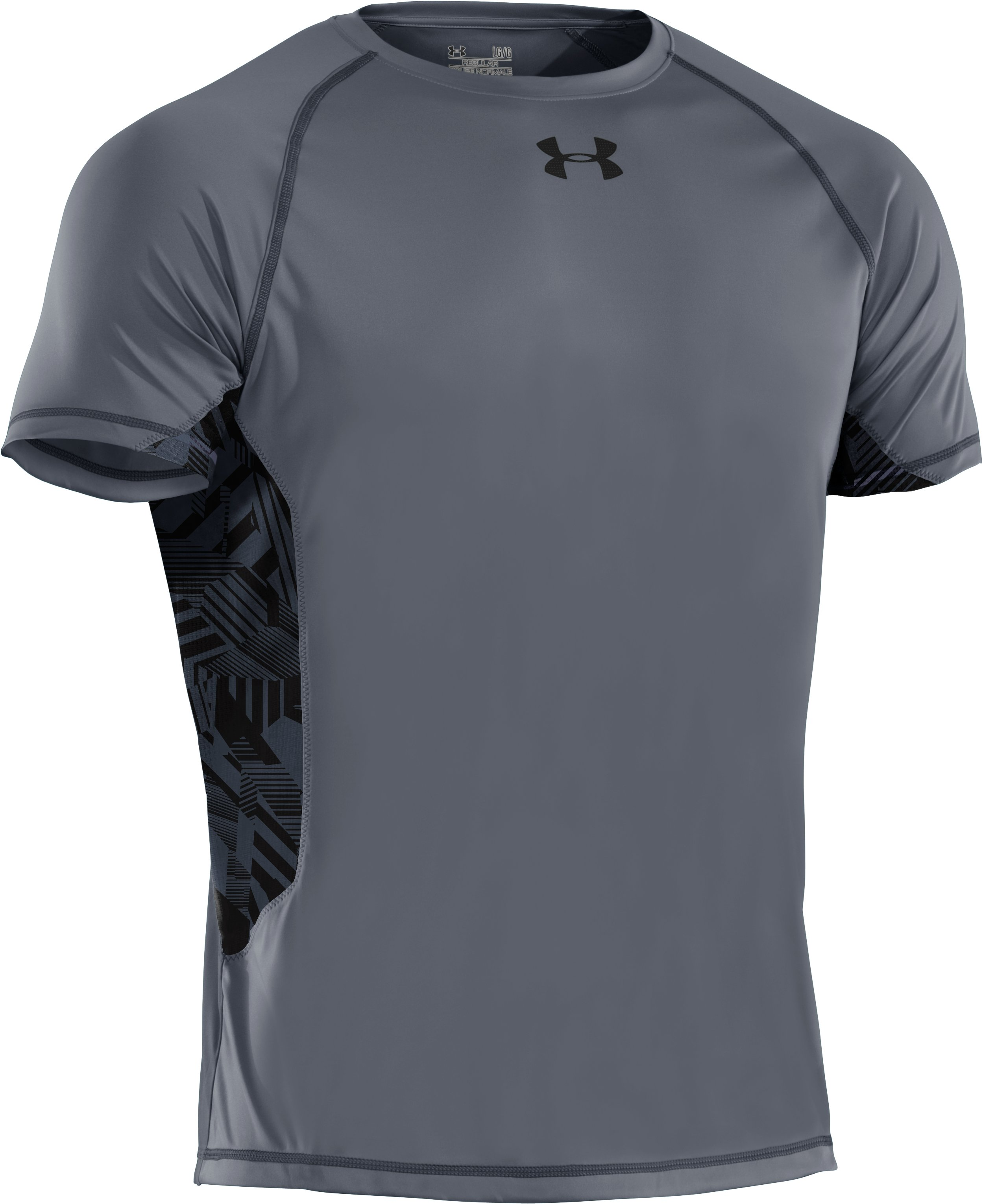 Men's HeatGear® Flyweight Short Sleeve, Graphite