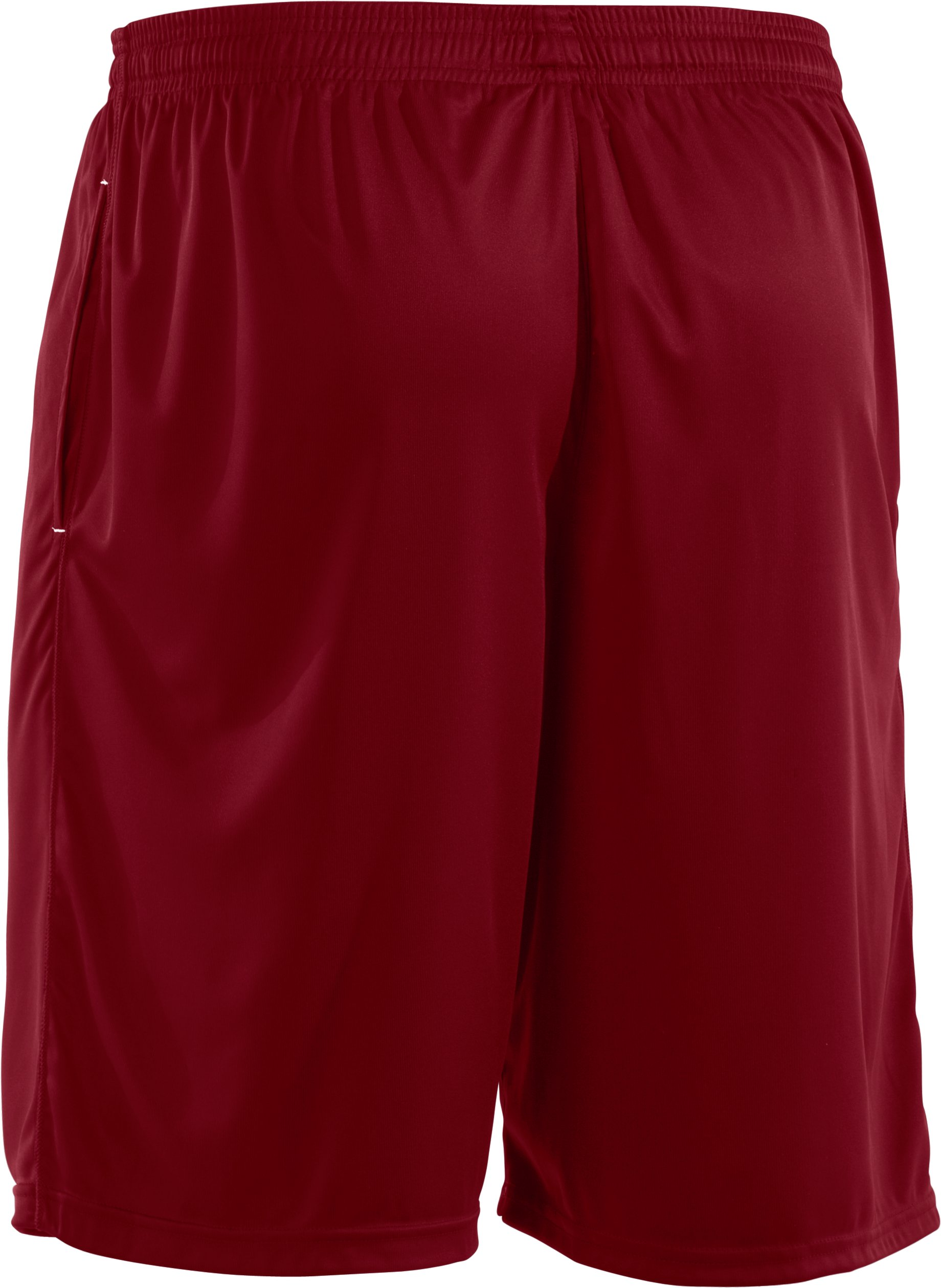Men's UA Micro Solid Shorts, Crimson,