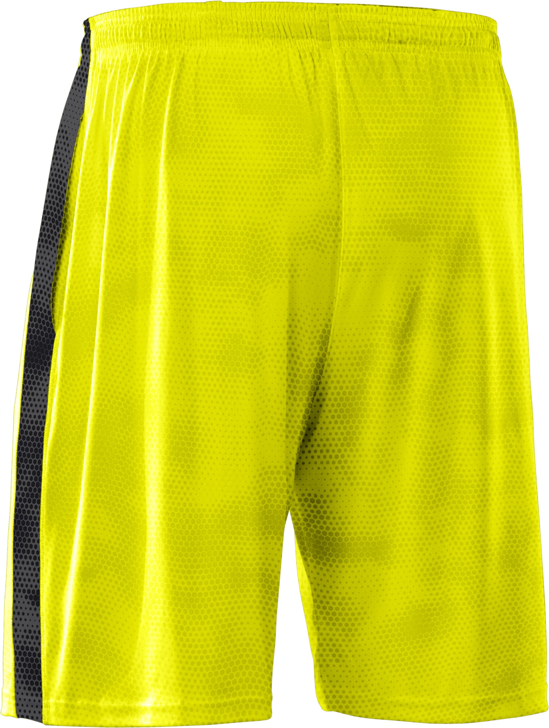 Men's UA Micro Printed Shorts, High-Vis Yellow, undefined