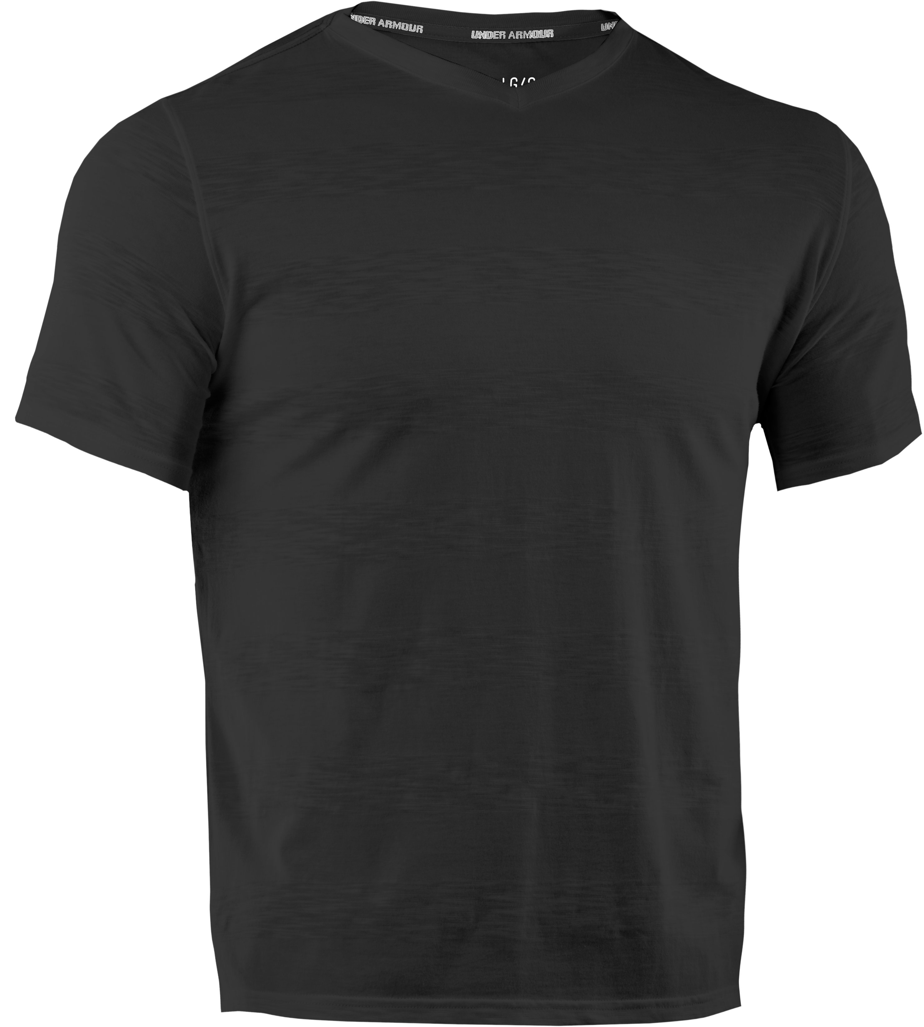 Men's UA Slub Stripe T-Shirt, Black ,