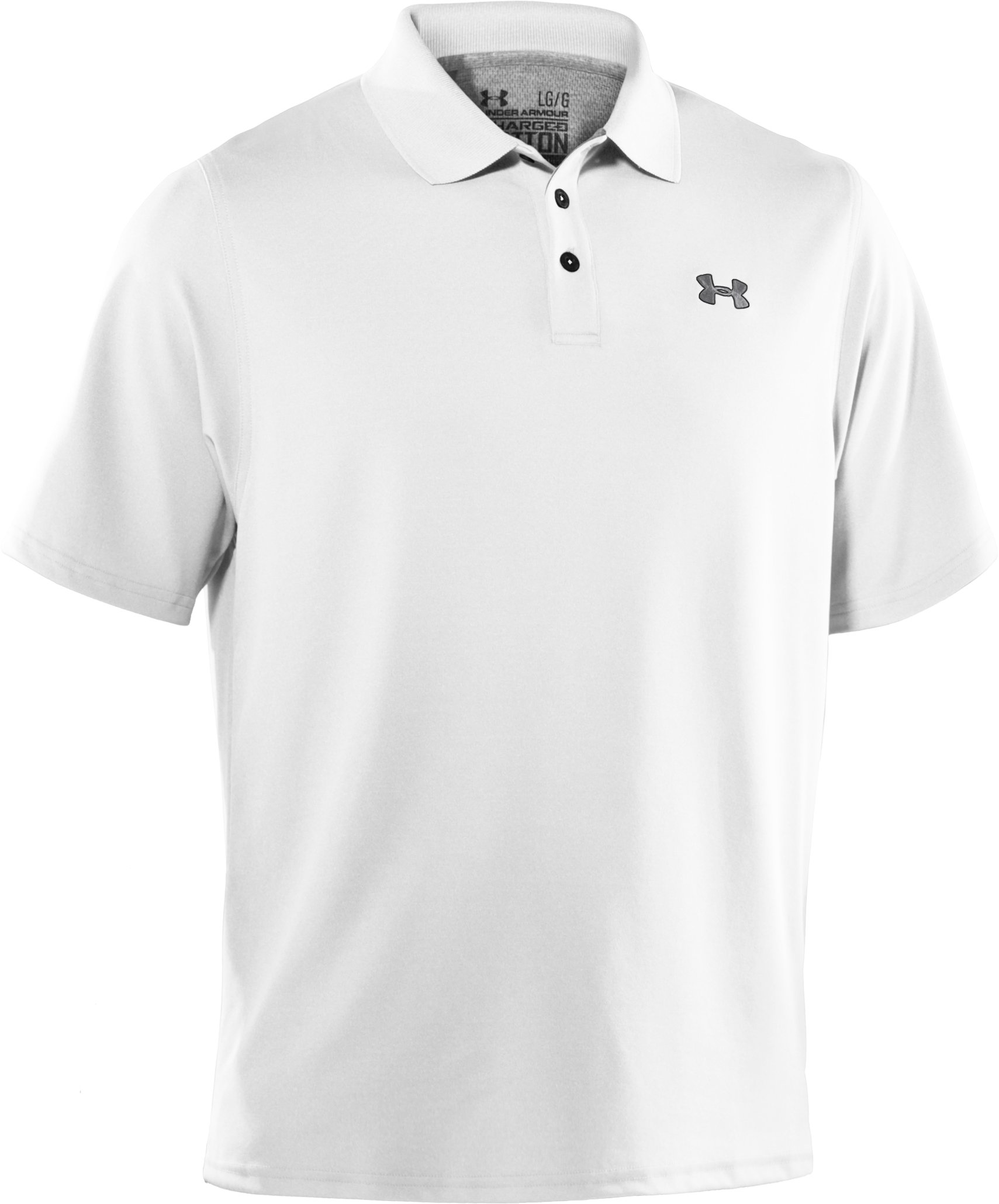 Men's Charged Cotton® Pique Polo, White,