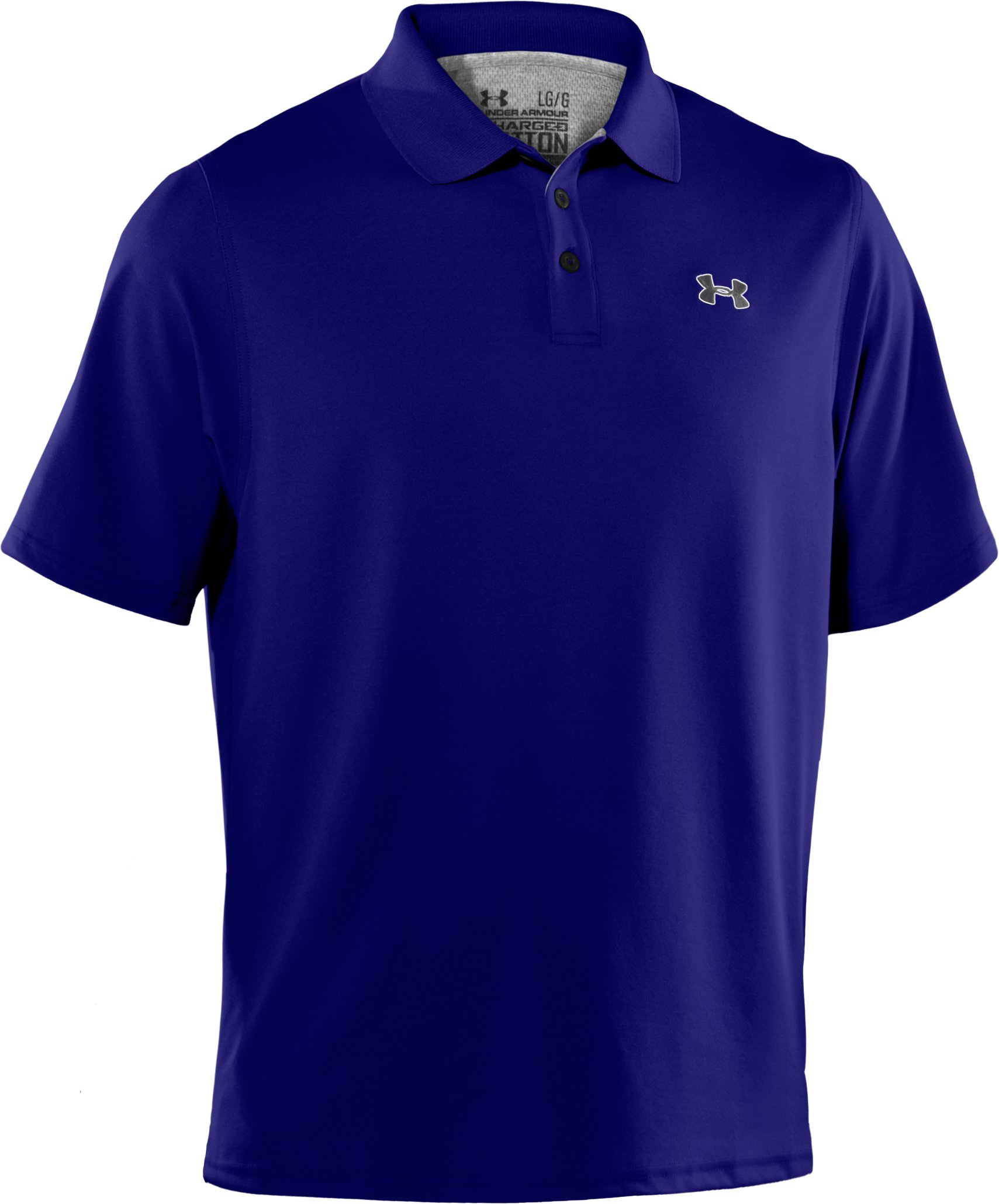 Men's Charged Cotton® Pique Polo, Caspian, undefined