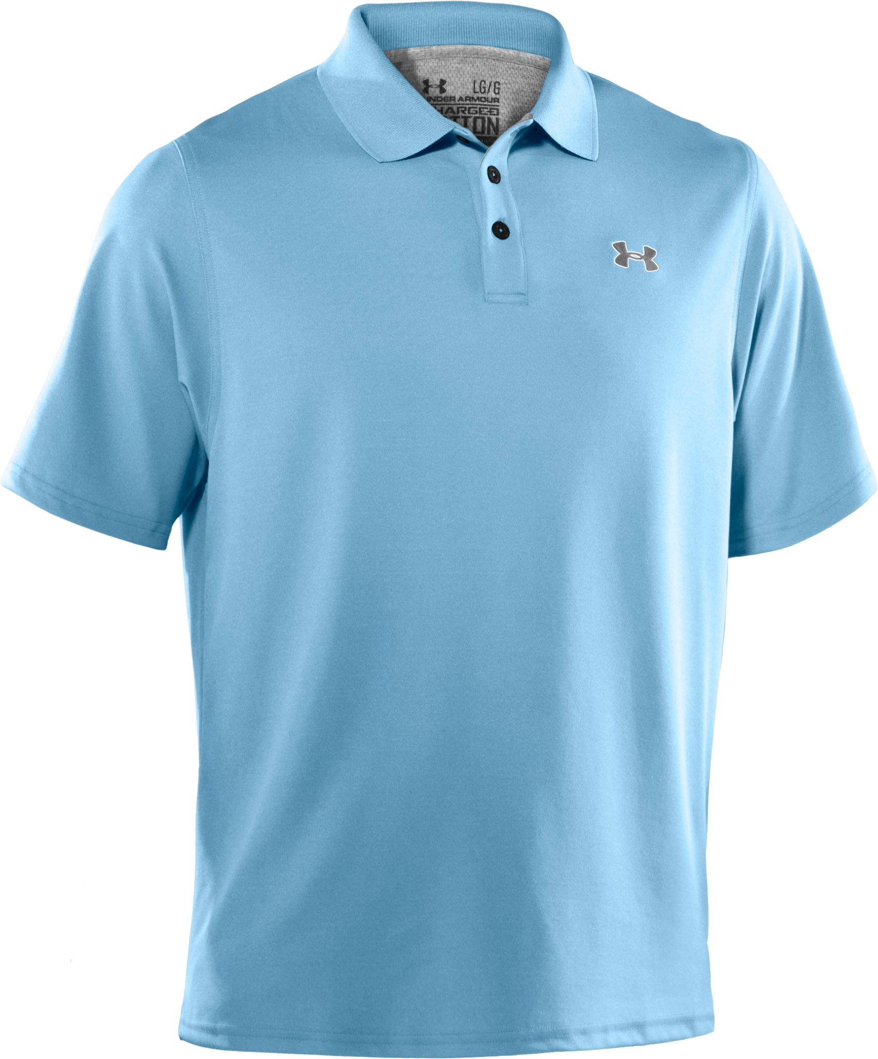 Men's Charged Cotton® Pique Polo, Iceland, undefined