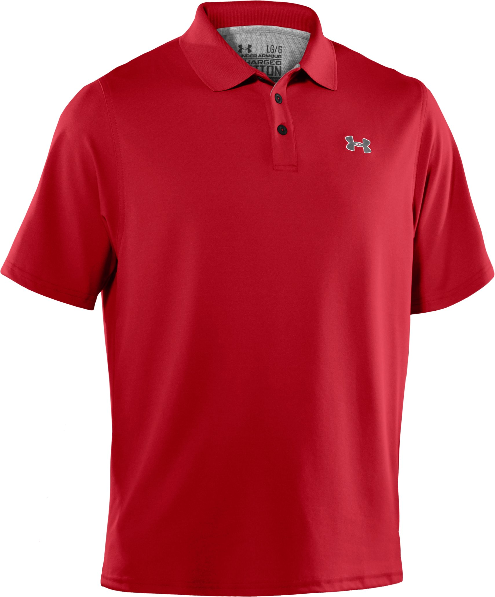 Men's Charged Cotton® Pique Polo, Red