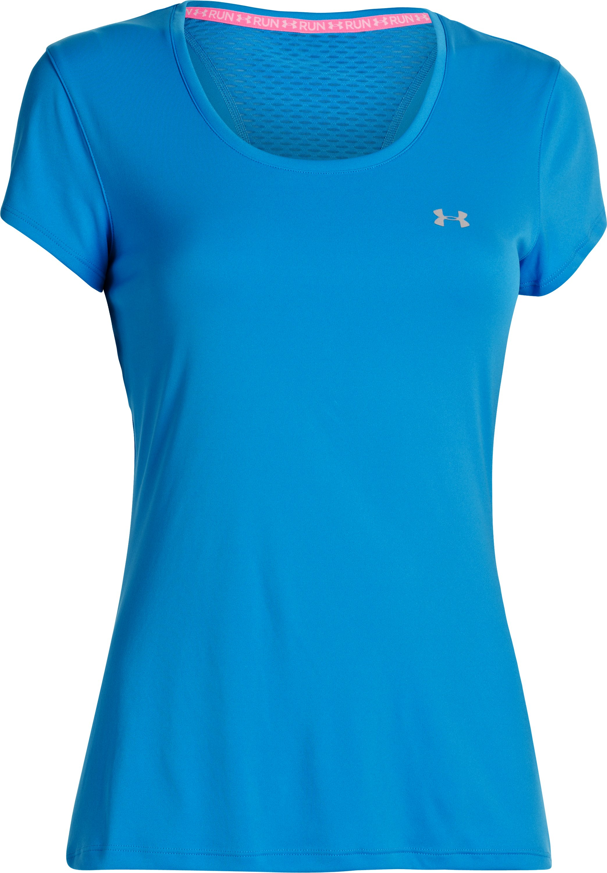 Women's UA Flyweight T-Shirt, ELECTRIC BLUE,