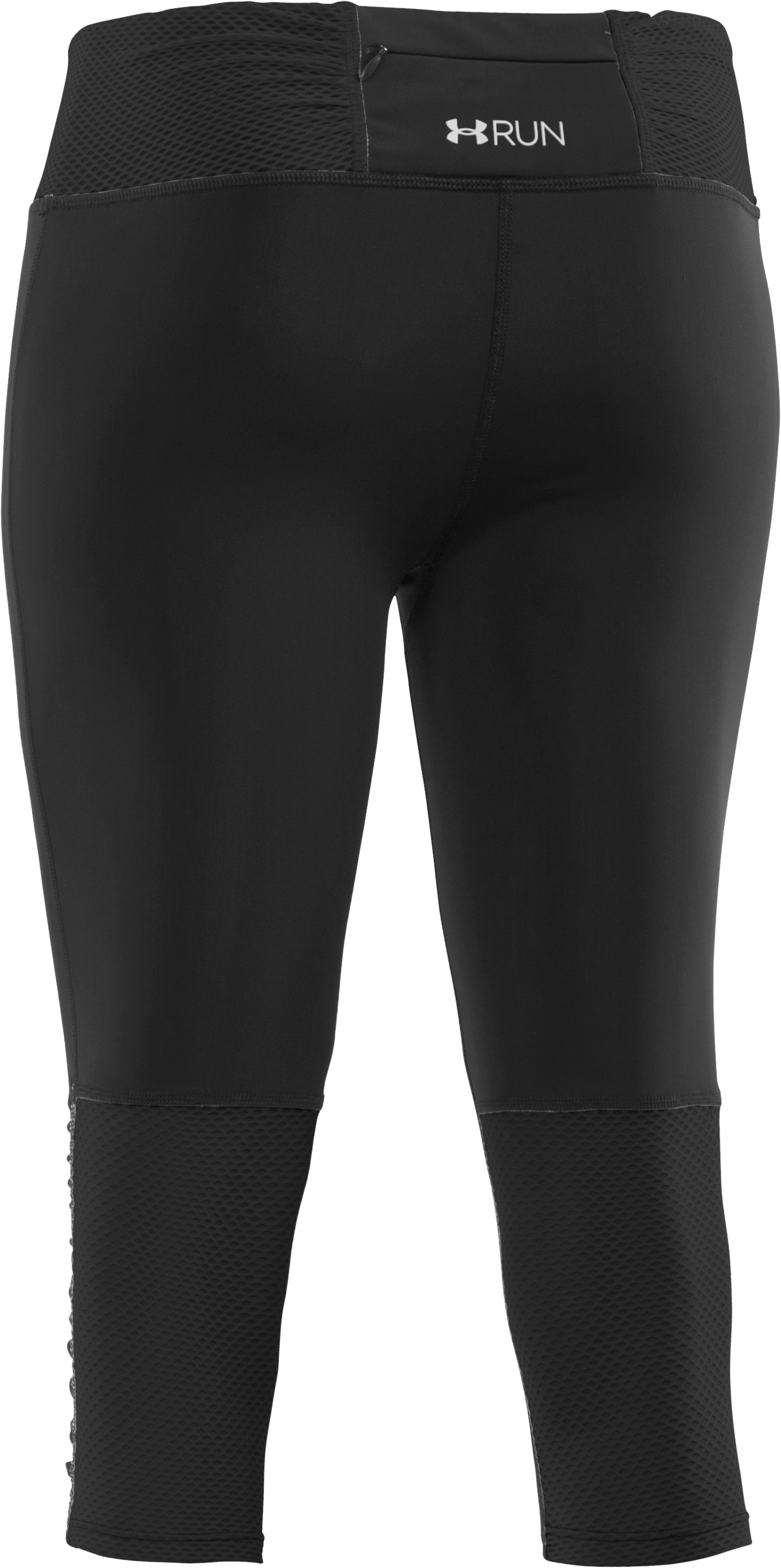 Women's UA Fly-By Compression Capri, Black ,