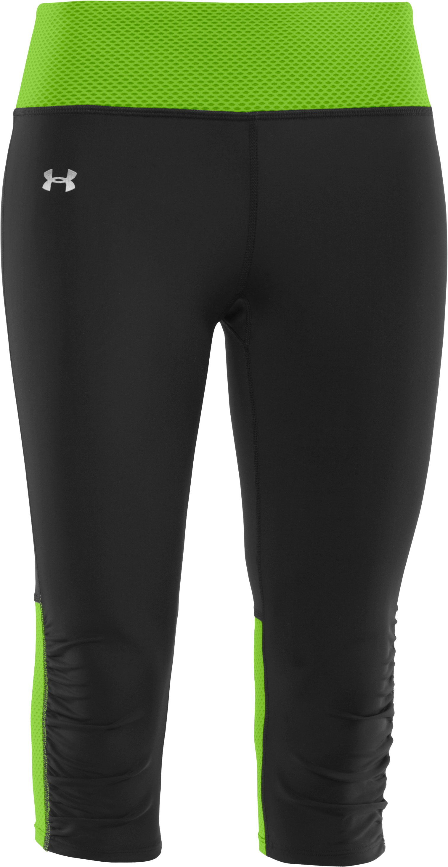 Women's UA Fly-By Compression Capri, Black , undefined