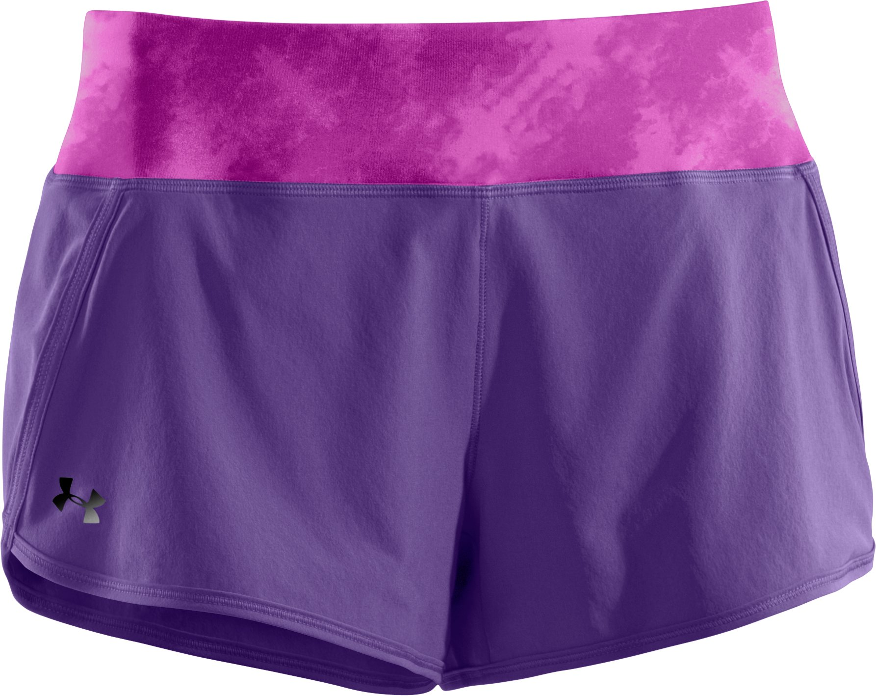 Women's UA Get Set Go Shorts, Purple Rain