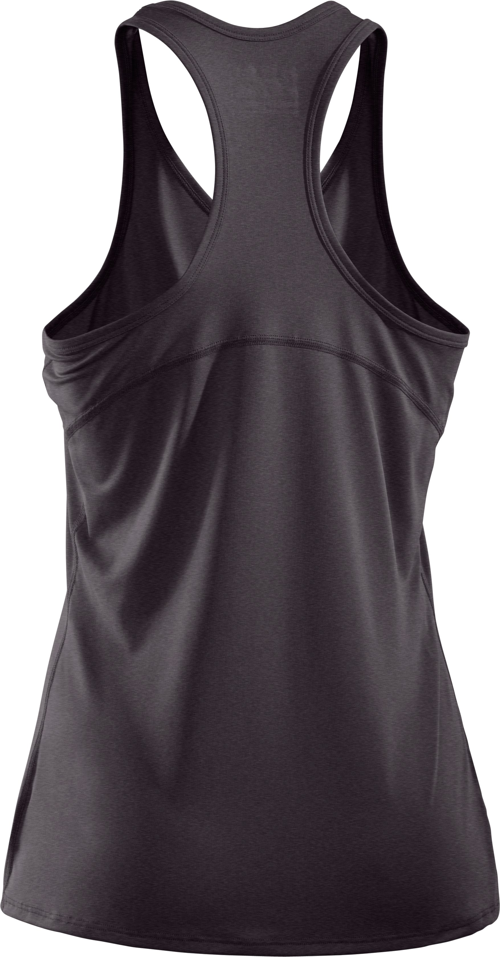 Women's HeatGear® Sonic Tank, Carbon Heather