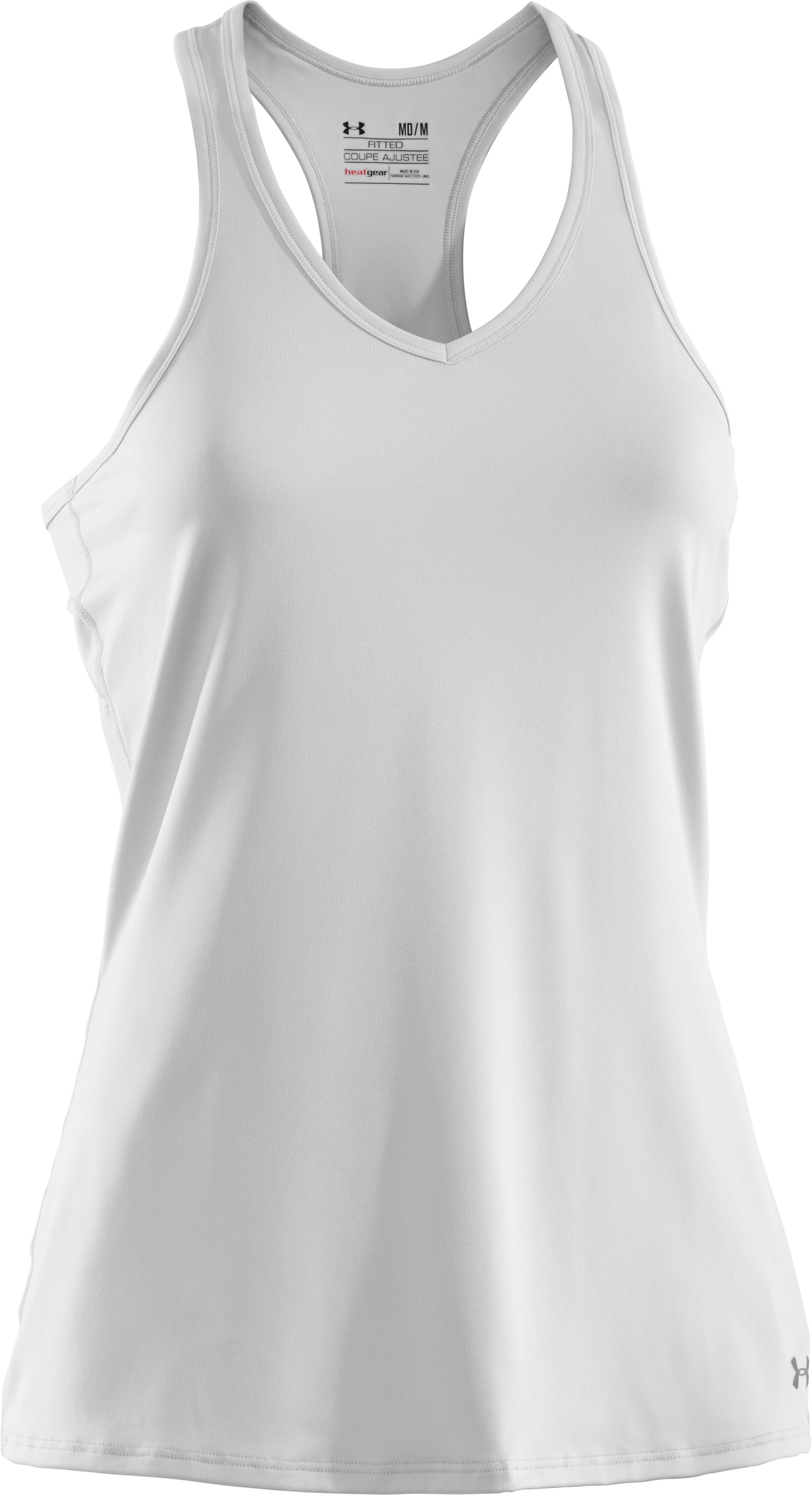 Women's HeatGear® Sonic Tank, White, undefined