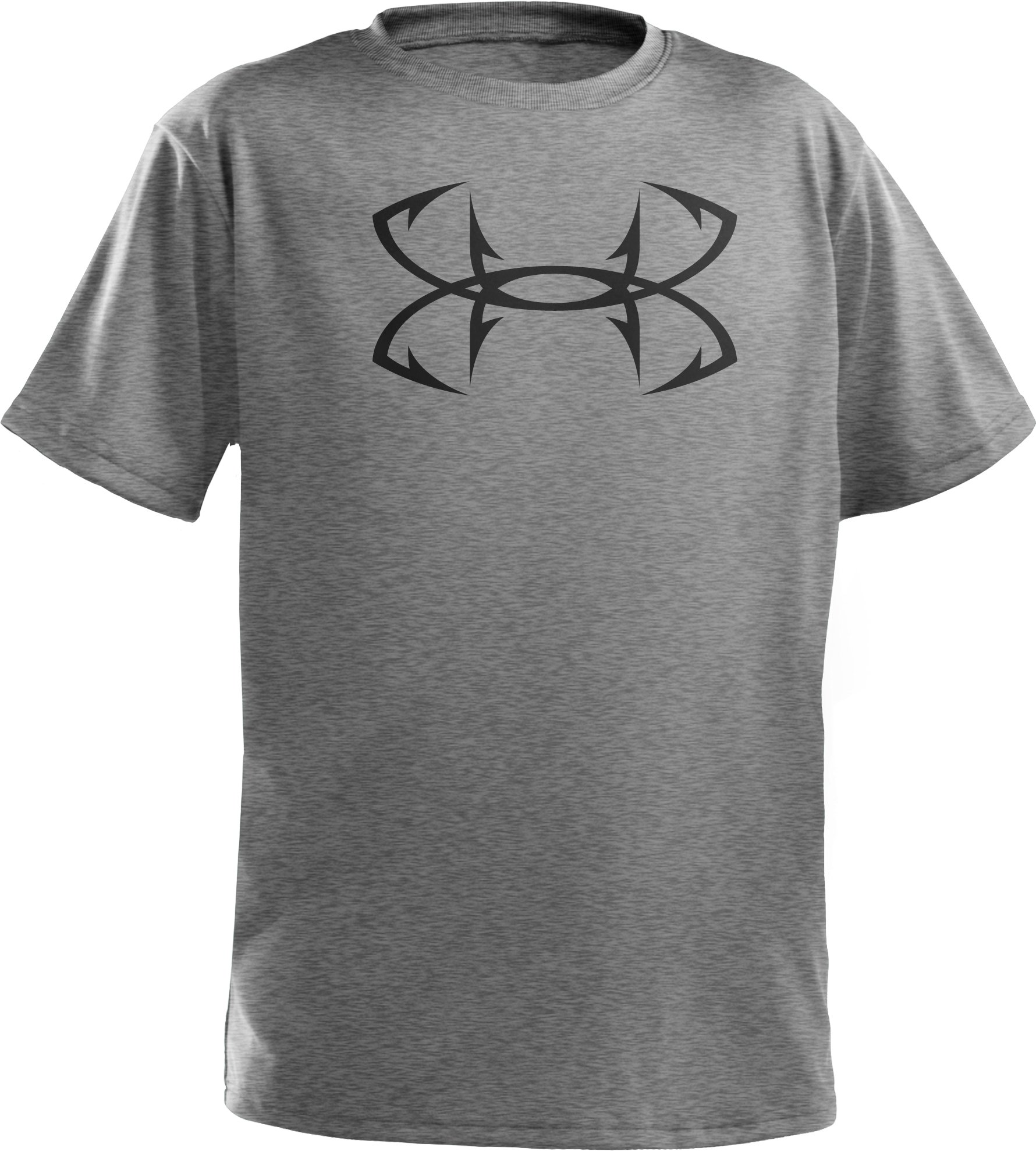 Boys' UA Hook Logo T-Shirt, True Gray Heather, undefined