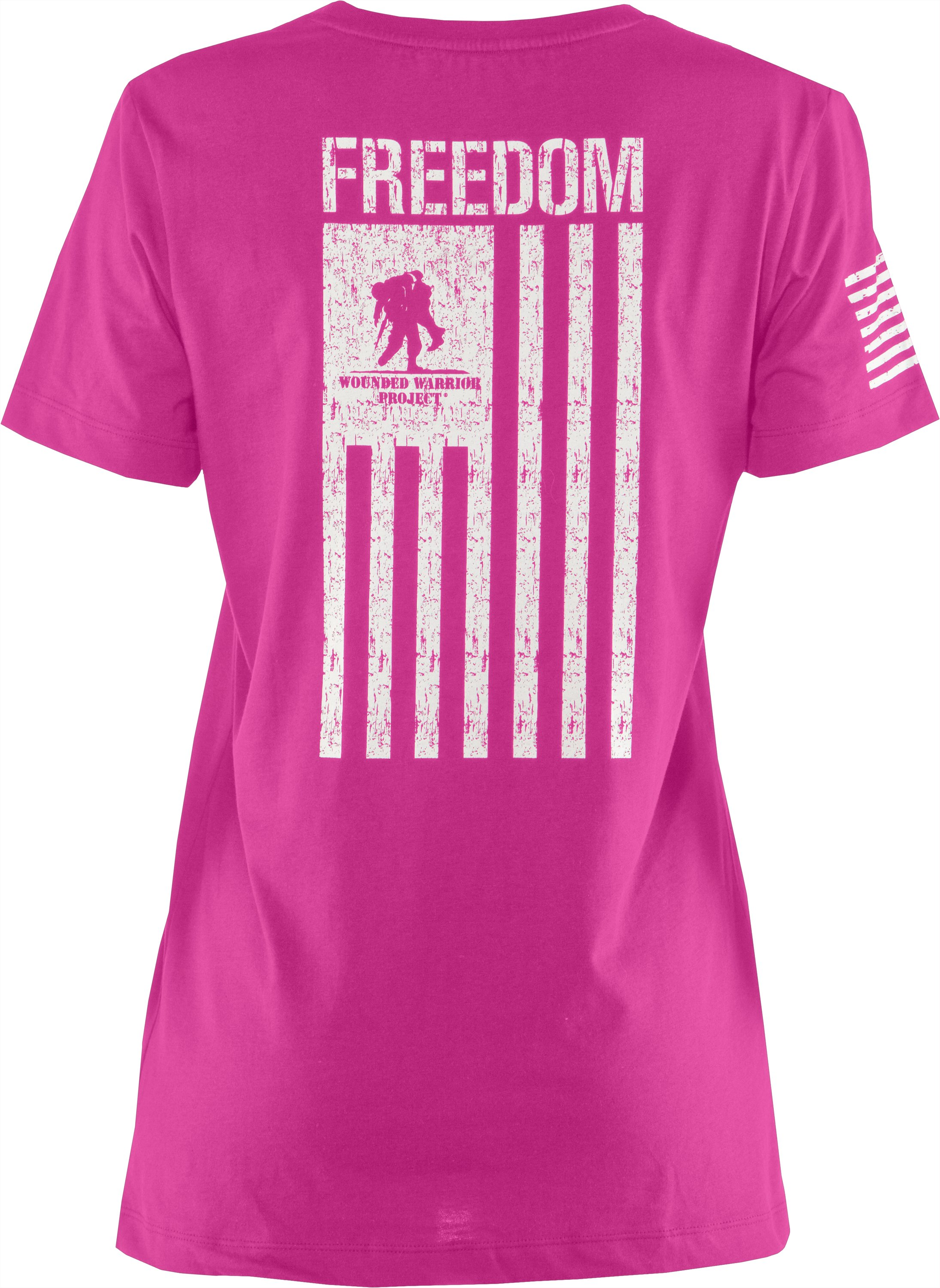 Women's WWP Freedom Flag T-Shirt, Pink Essence