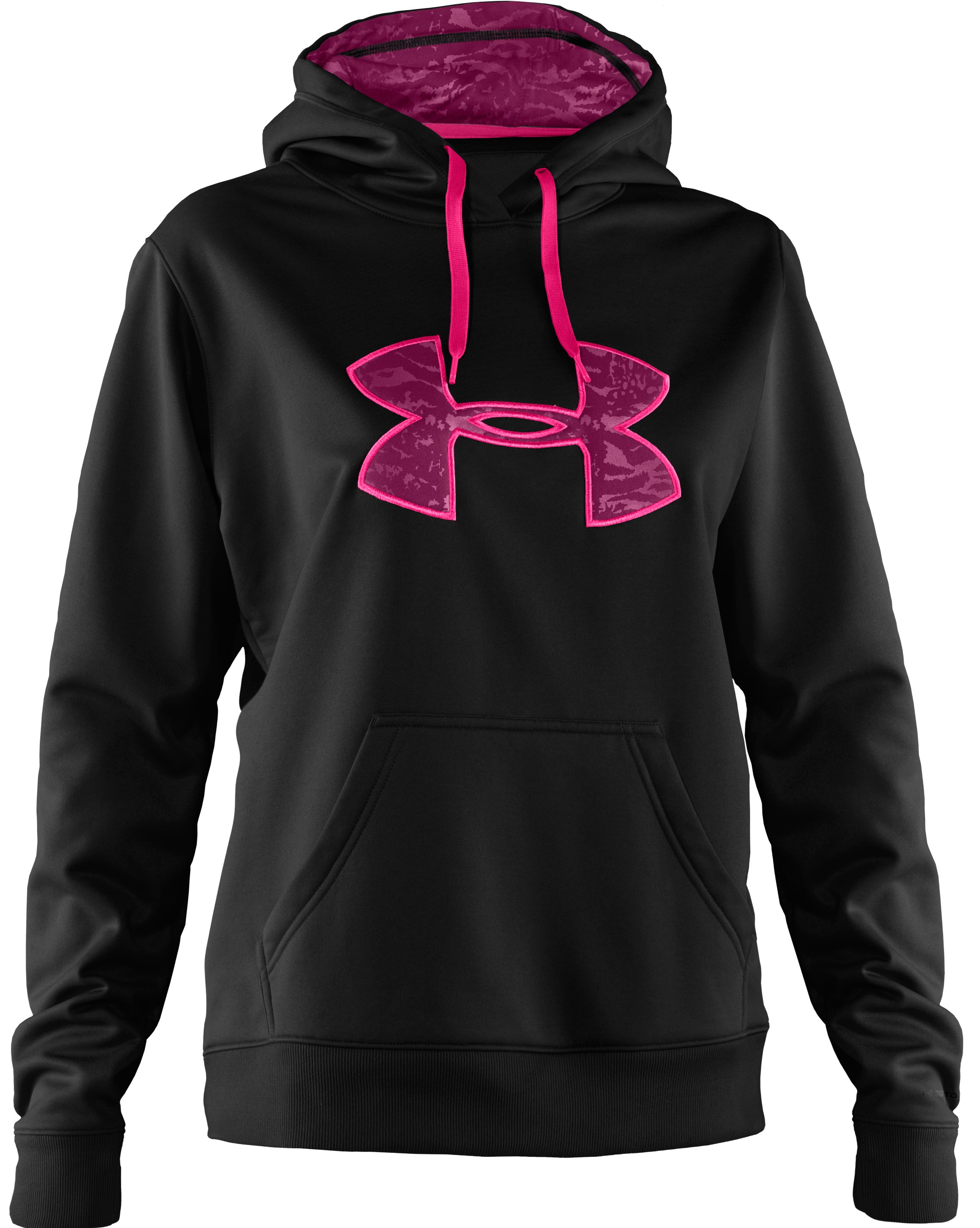 Women's Armour® Fleece Storm Printed Big Logo Hoodie, Black