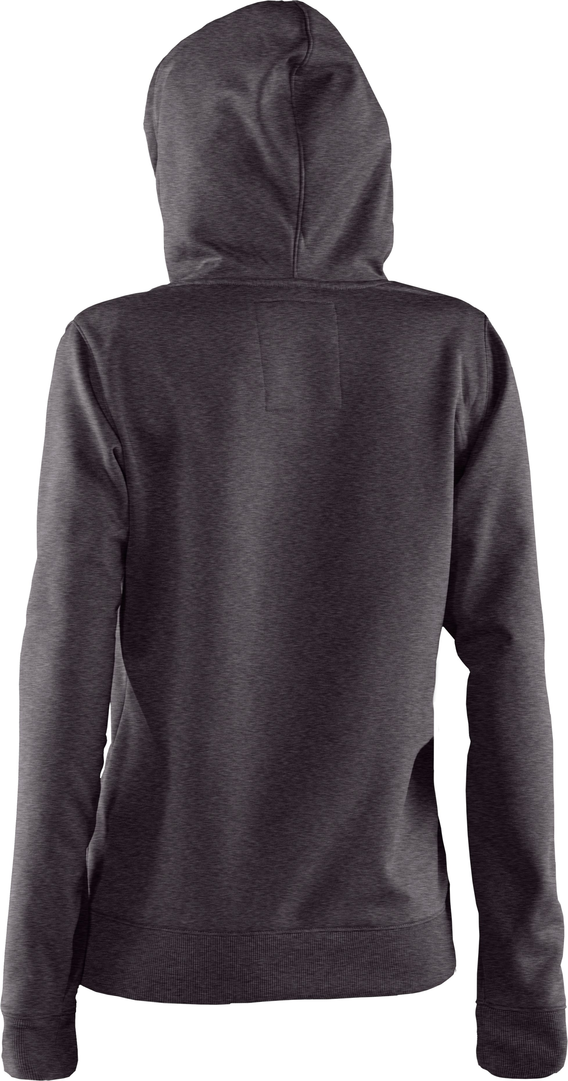 Women's Armour® Fleece Storm Printed Big Logo Hoodie, Carbon Heather, undefined